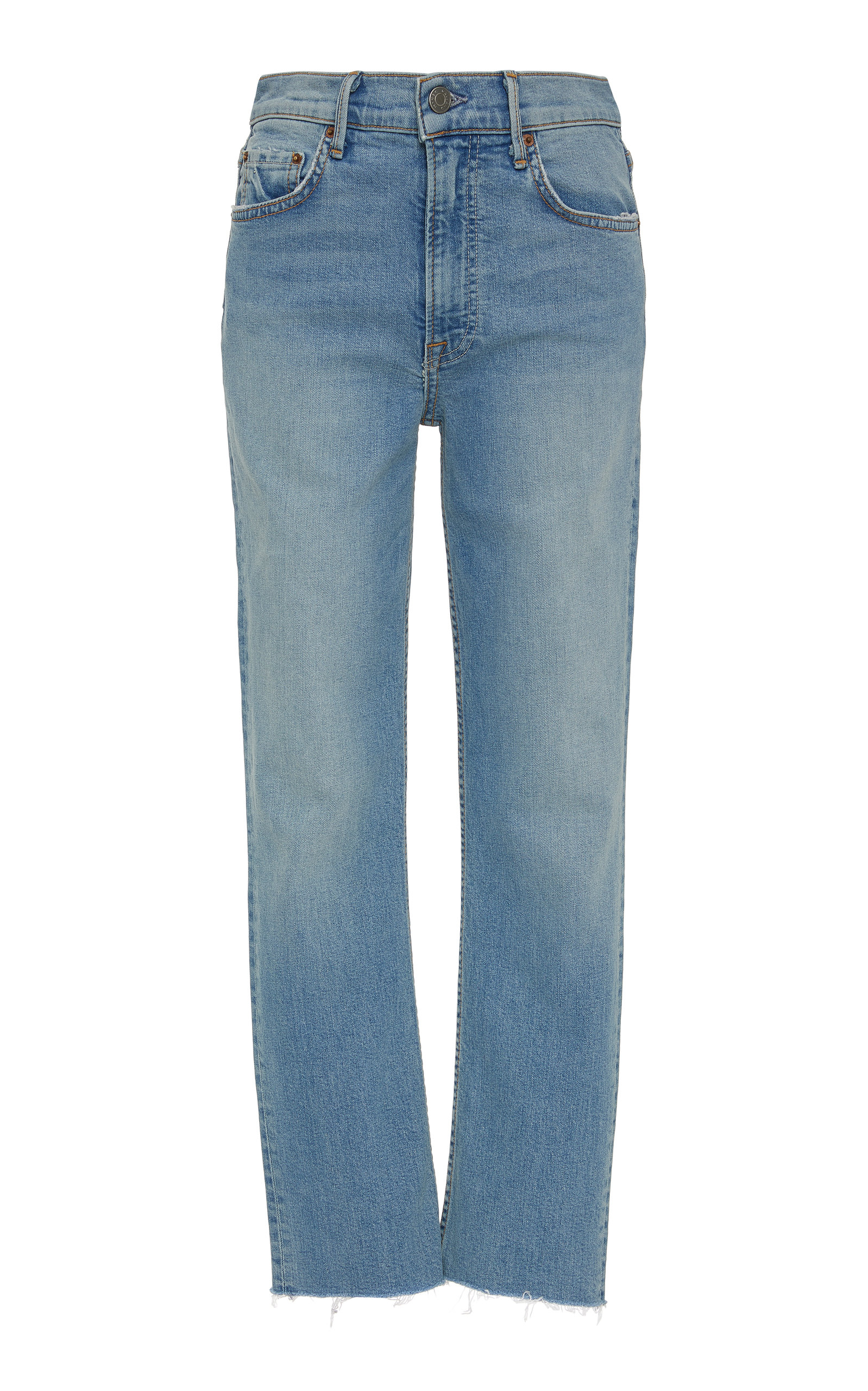 Reed Cropped High Rise Skinny Jeans by Grlfrnd Denim