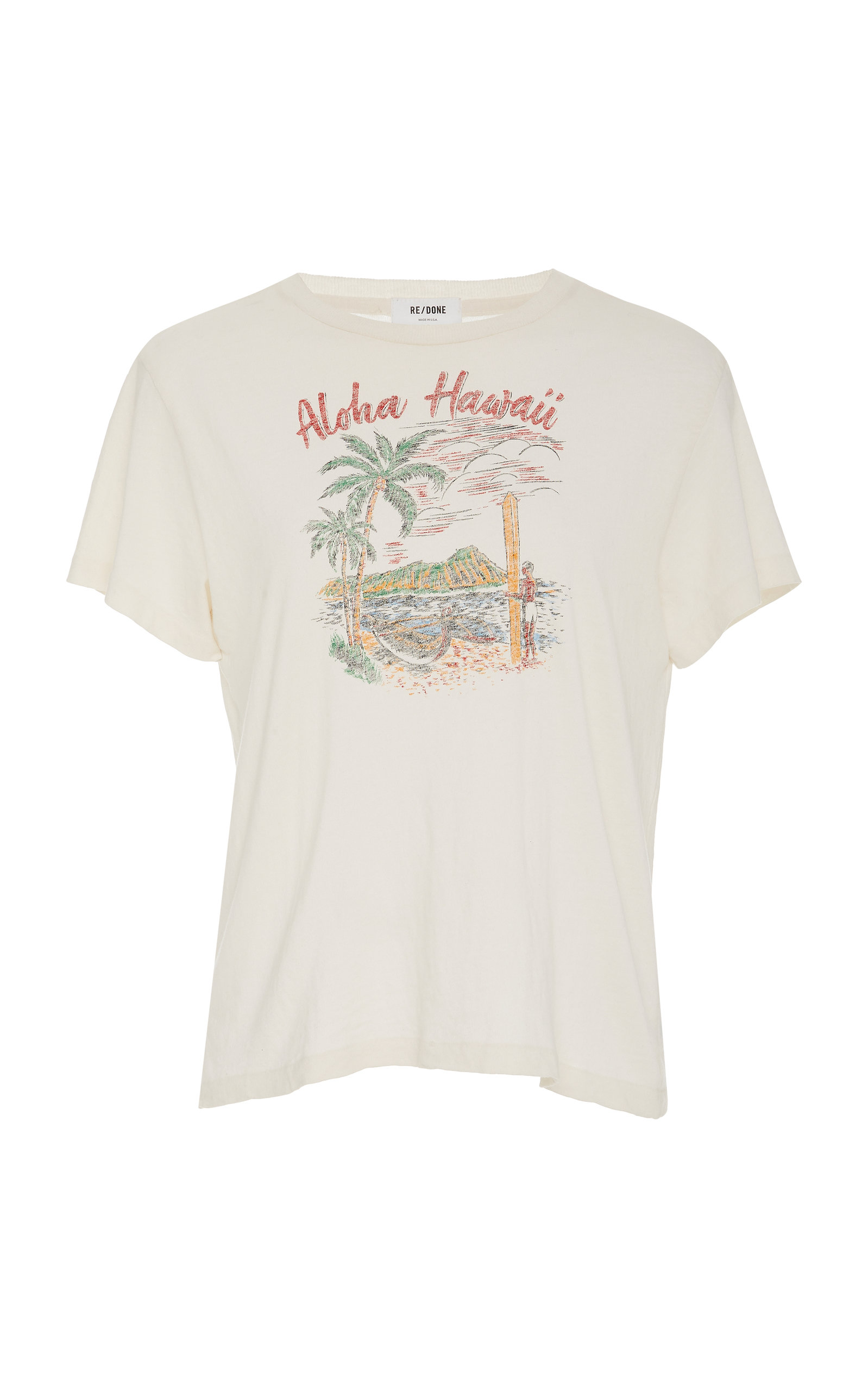 Re/done T-shirts Printed Cotton-Jersey T-Shirt