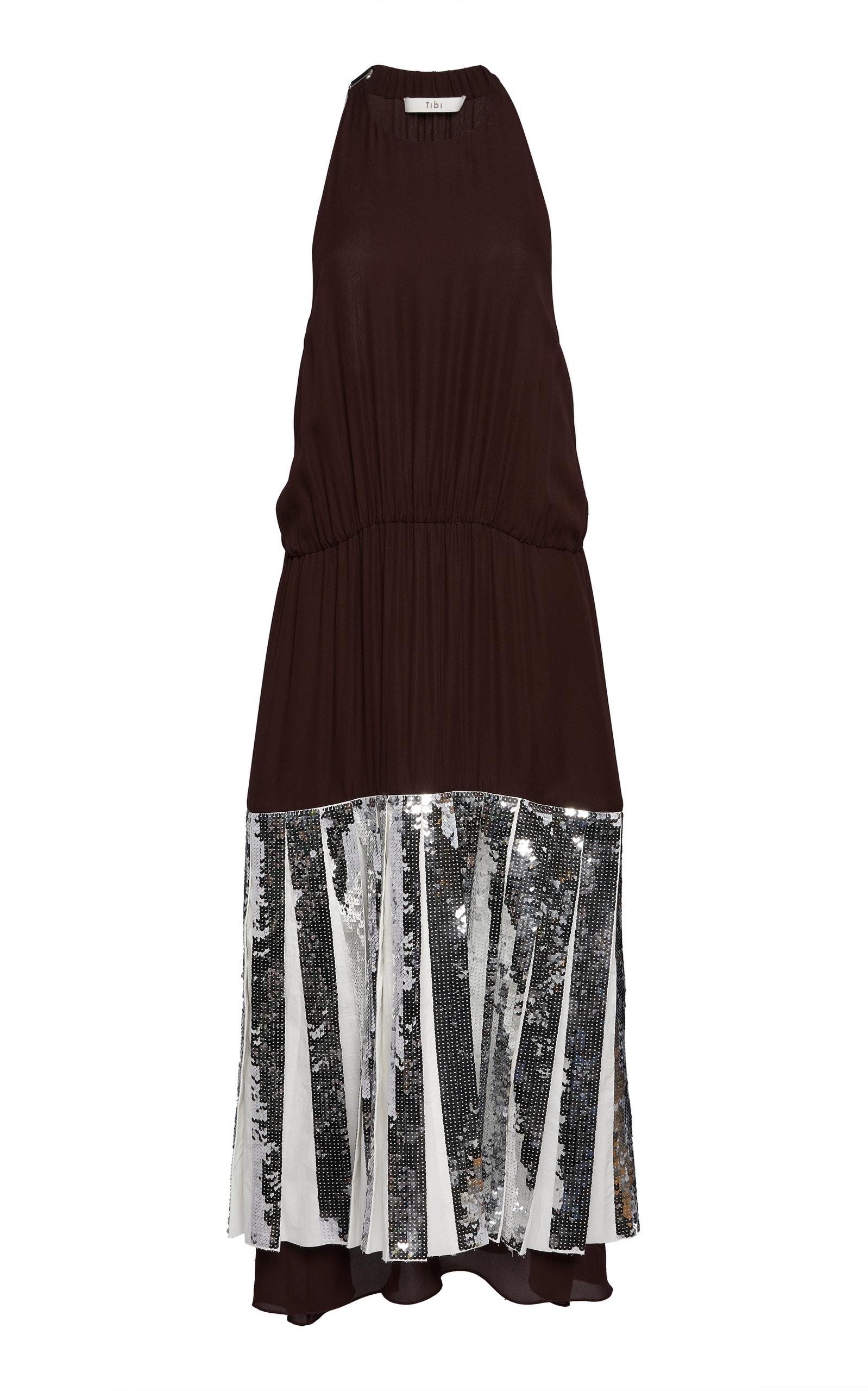 14b070fa Claude Sequined Silk Halter Dress by Tibi   Moda Operandi
