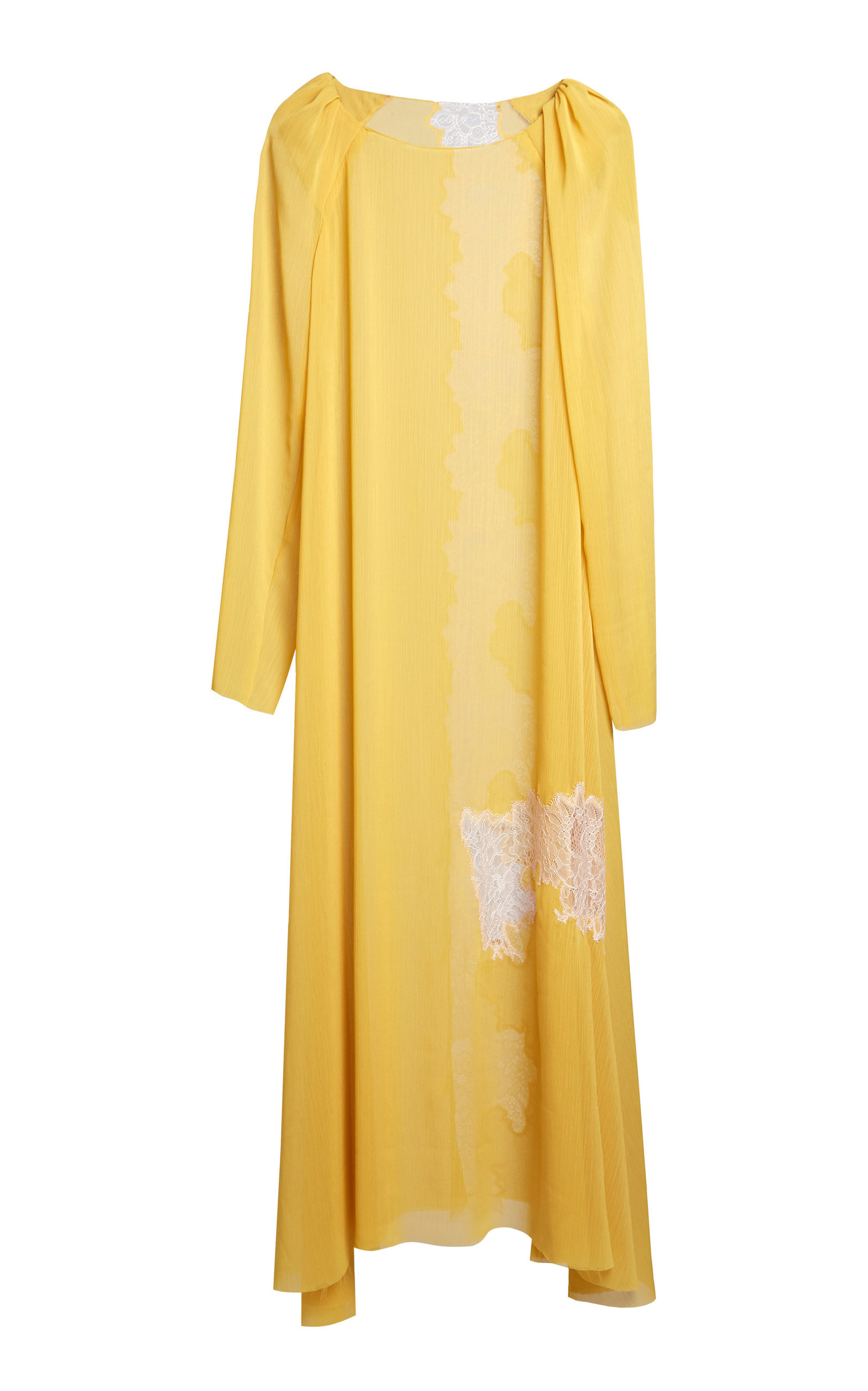 Lake Studio LACE-PANELED GAUZE MAXI SHIFT DRESS SIZE: 42
