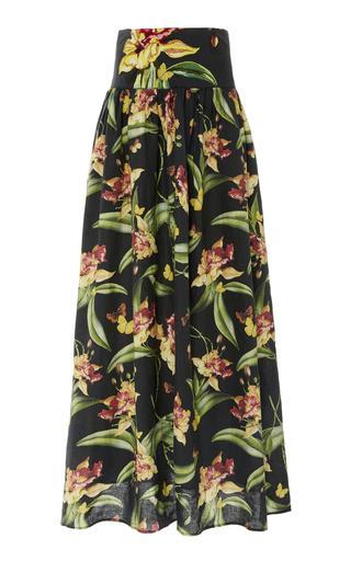 AGUA BY AGUA BENDITA | Agua by Agua Bendita Tropical Painted Linen Maxi Skirt | Goxip