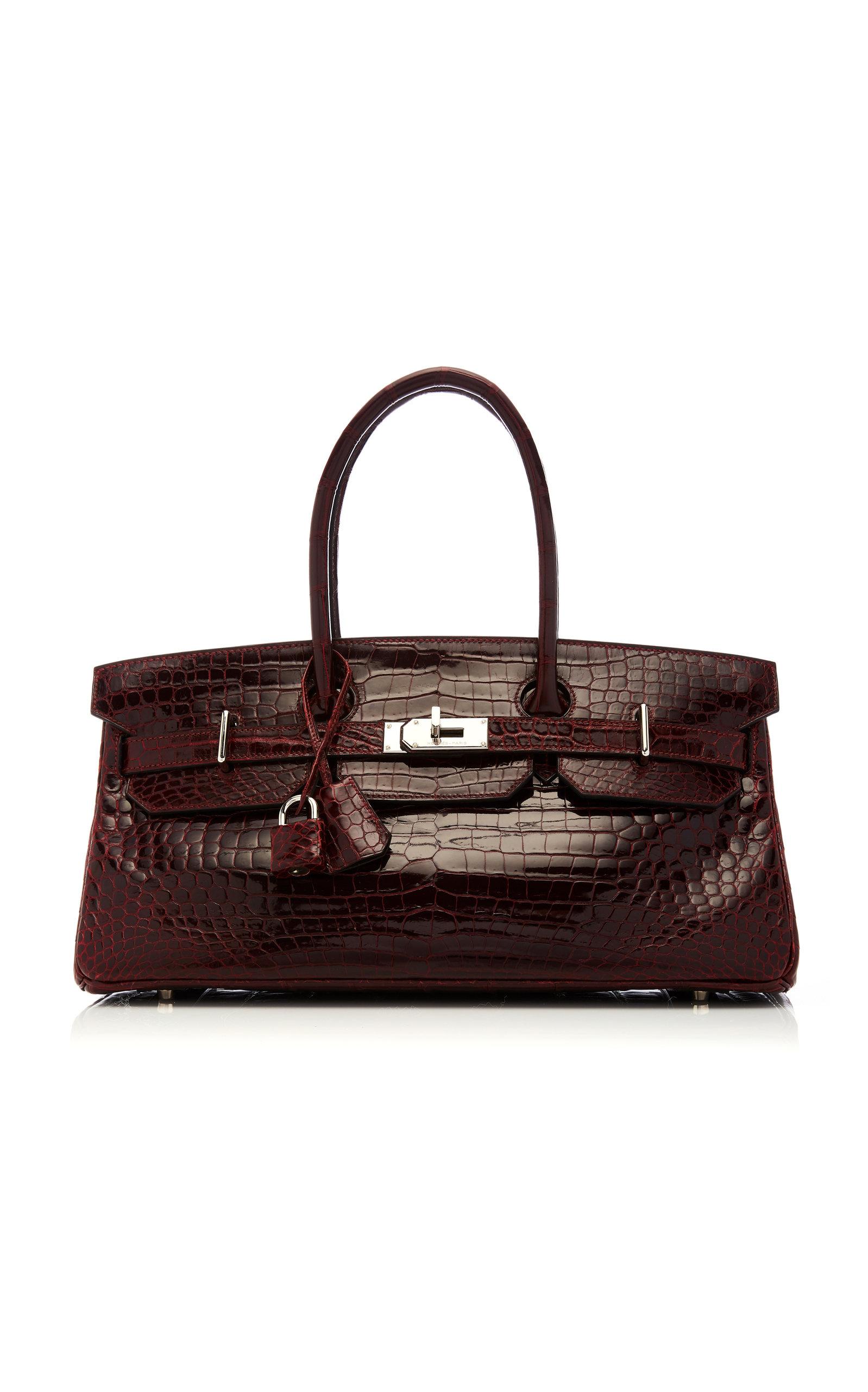9e46cd53eb Hermès Vintage by Heritage AuctionsHermès 42cm Shiny Bordeaux Porosus  Crocodile JPG Shoulder Birkin