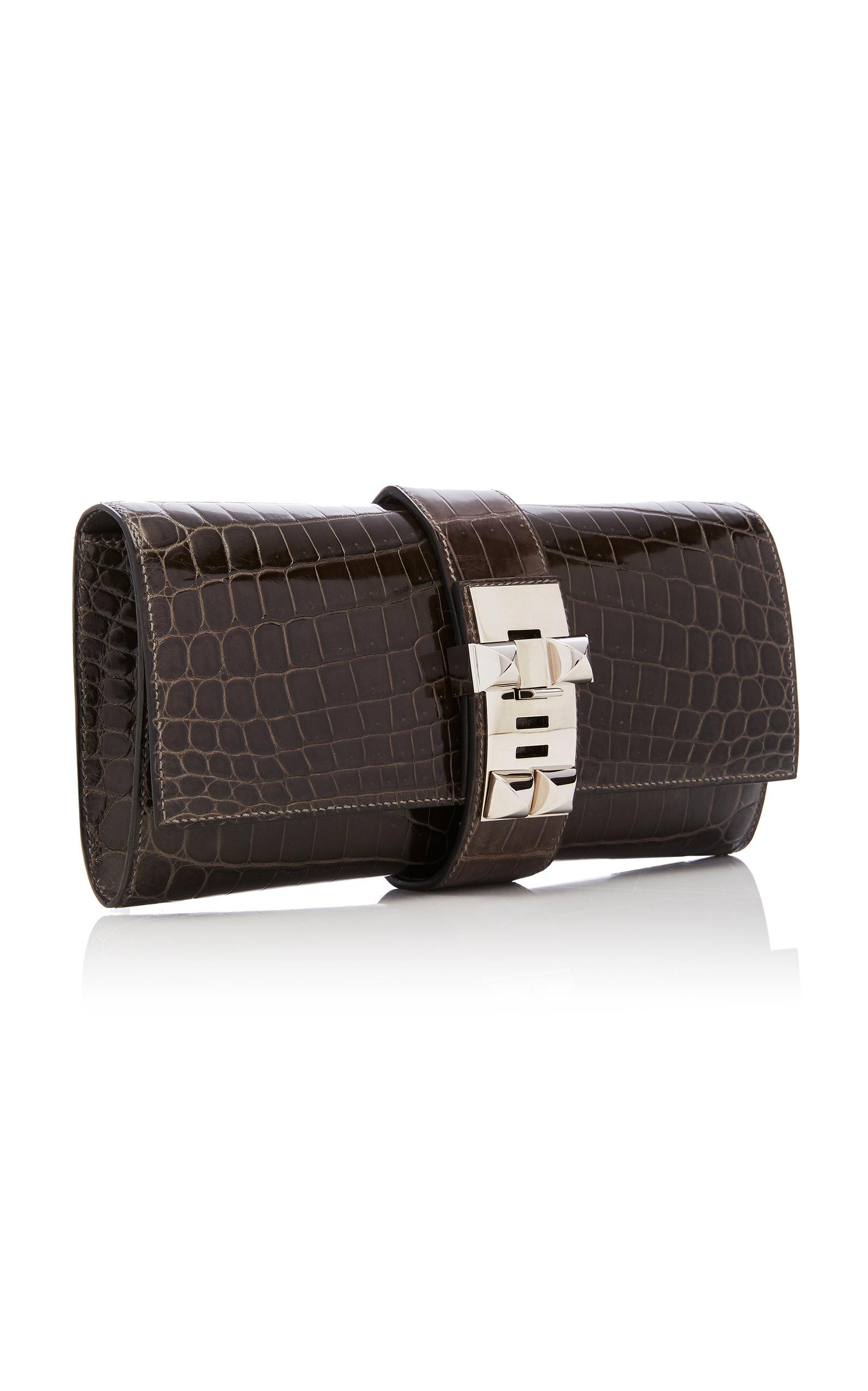 c1768999997 Hermès Shiny Graphire Niloticus Crocodile Medor Clutch by Hermès ...