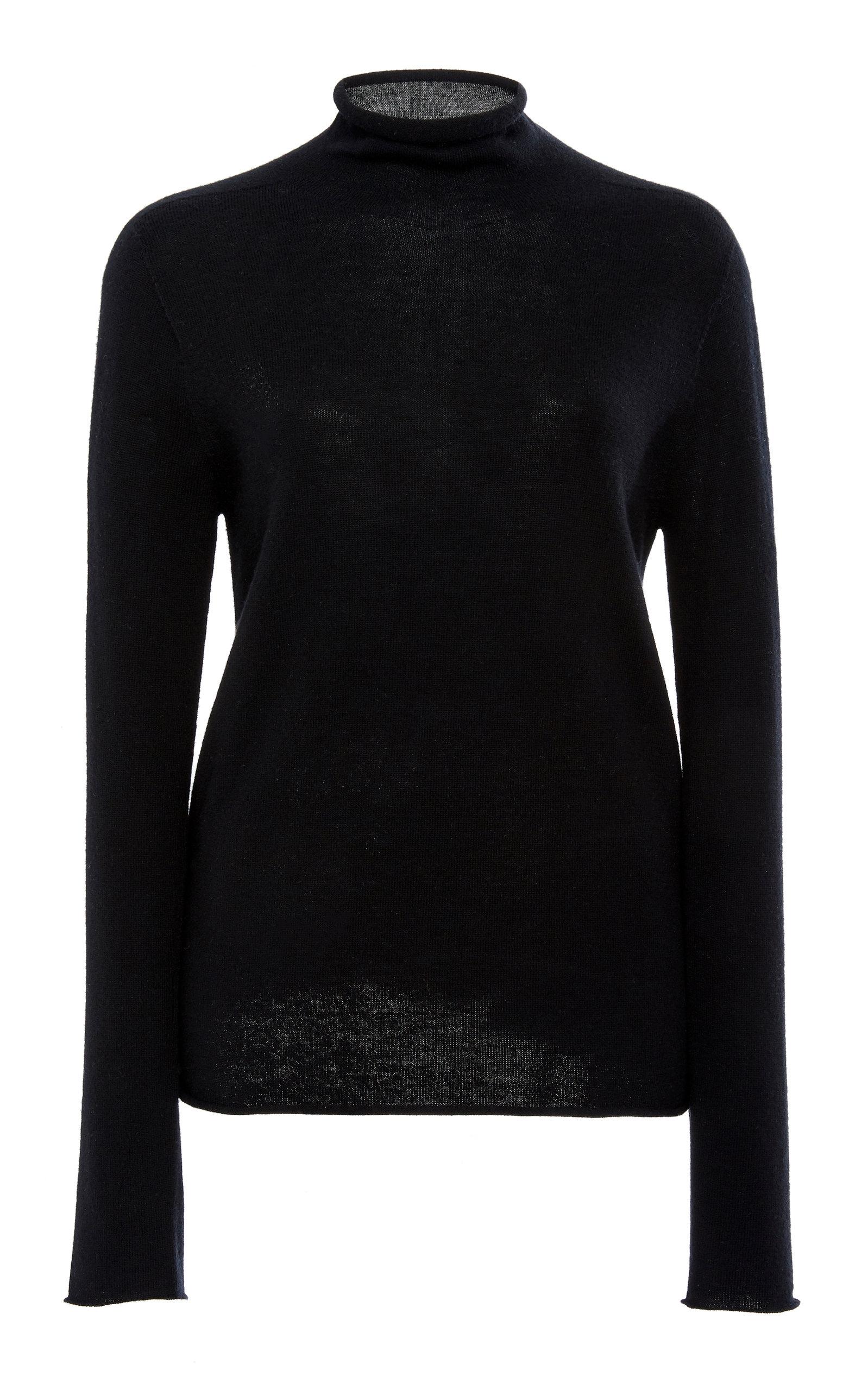 Joseph Wool Turtleneck Sweater In Black Modesens