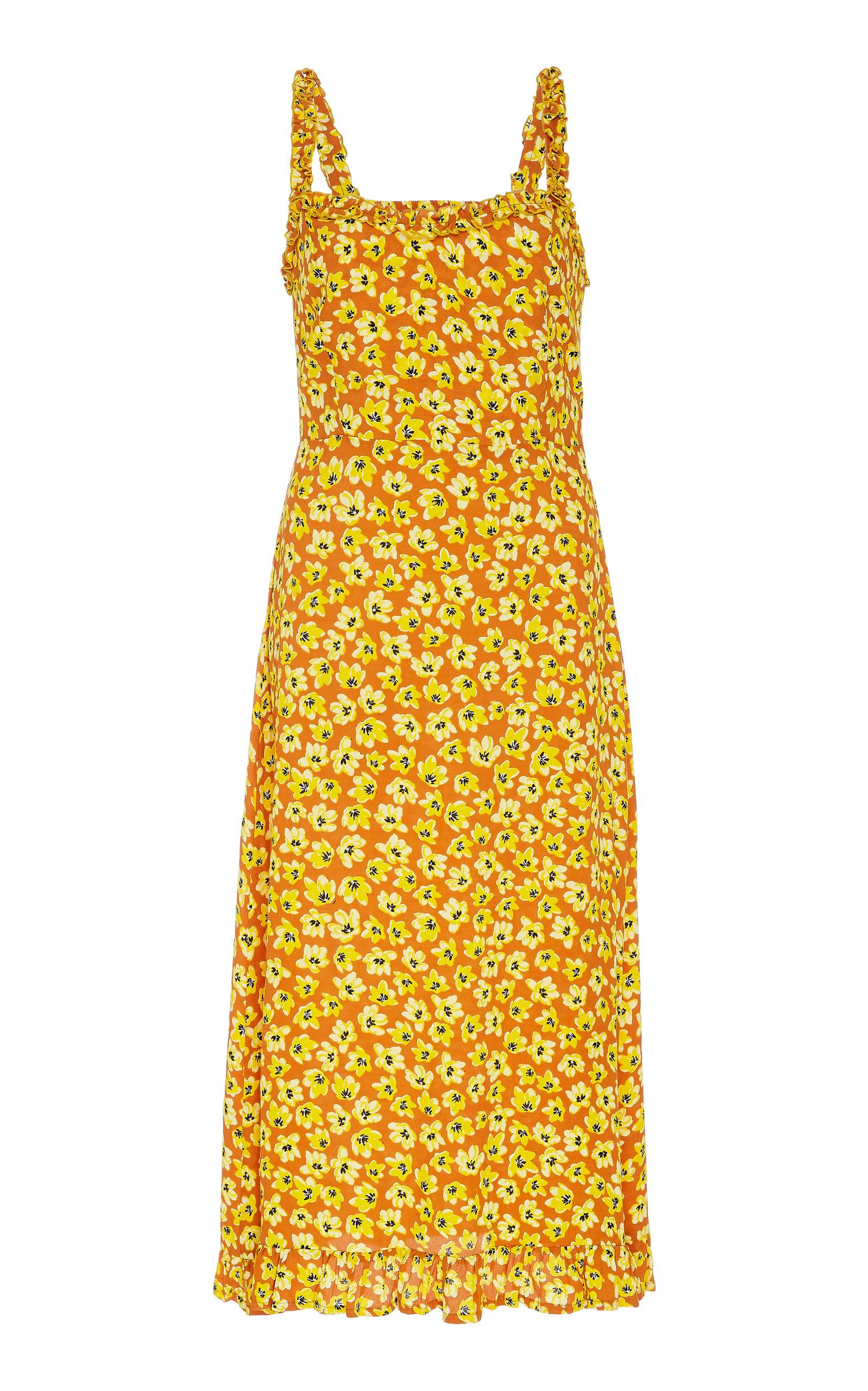 Faithfull The Brand Dresses Noemie Floral-Print Crepe Midi Dress