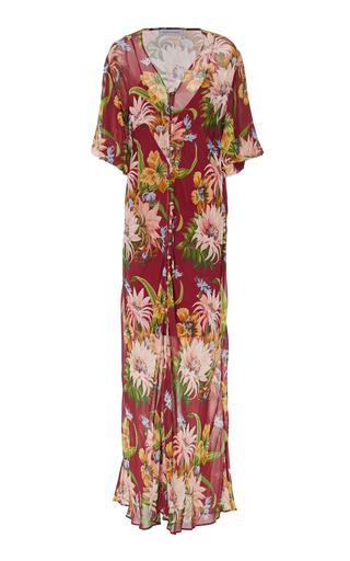 OLIVIA VON HALLE | Olivia von Halle Delphine Floral-Print Silk-Chiffon Maxi Dress | Goxip