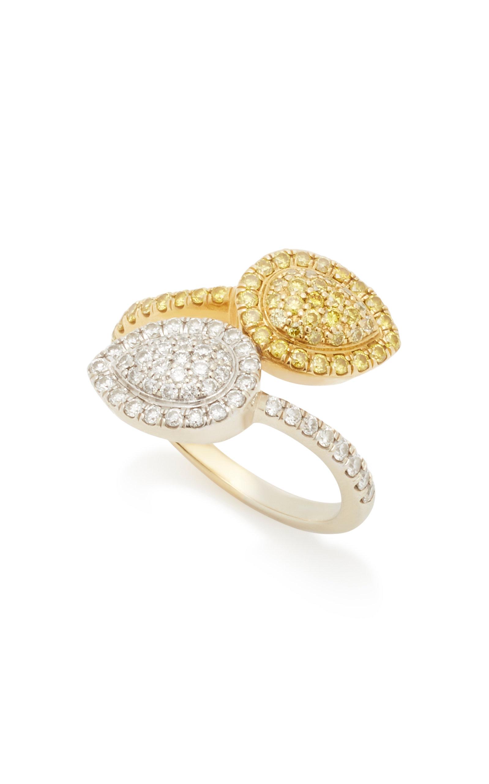 MARIA JOSE JEWELRY | Maria Jose Jewelry Two-Tone 18K Gold Diamond Ring | Goxip