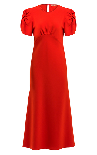 Maggie Marilyn IT'S UP TO YOU GATHERED SATIN MIDI DRESS