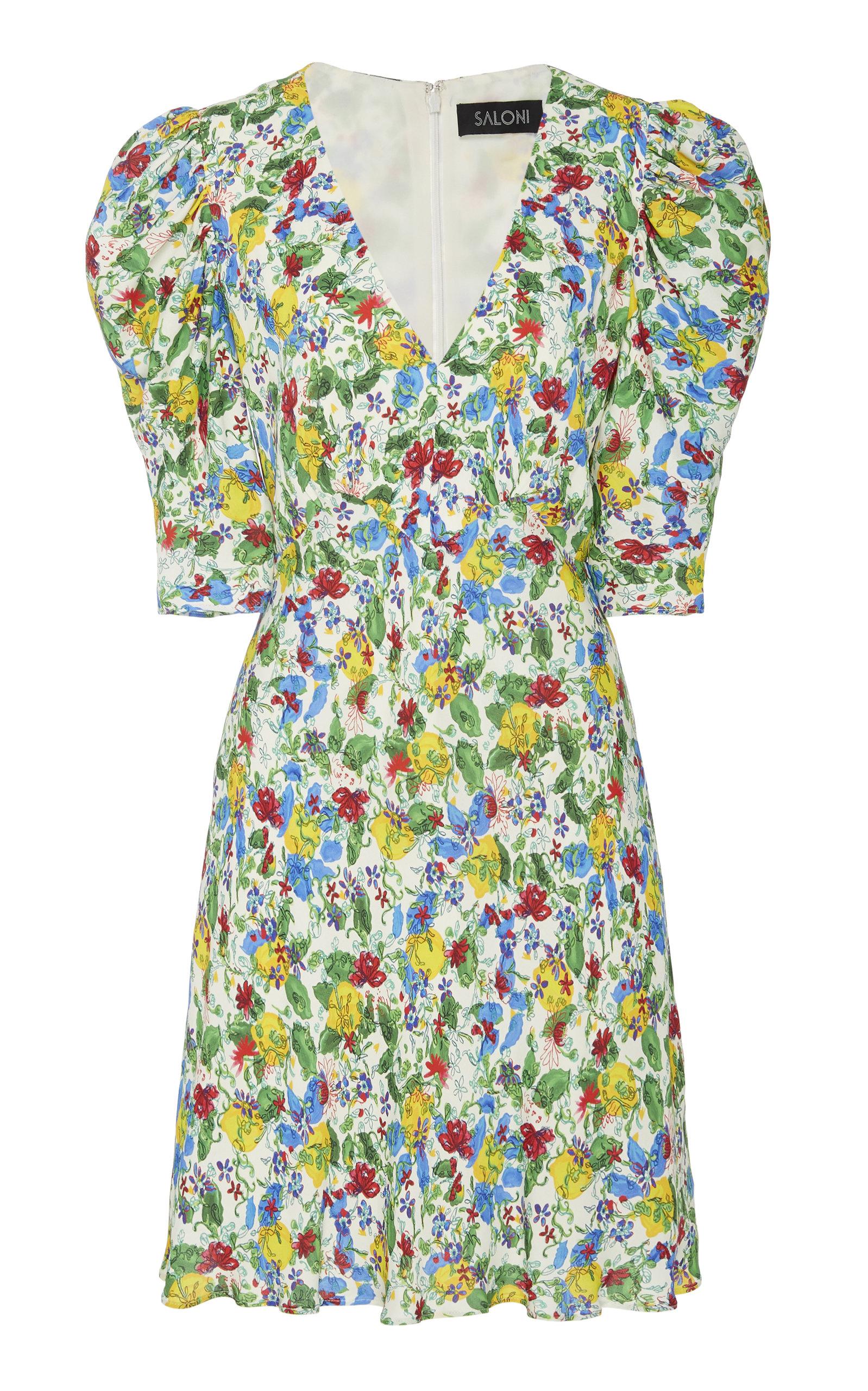 0e585a58b30d Colette Floral-Print Crepe Mini Dress by Saloni   Moda Operandi