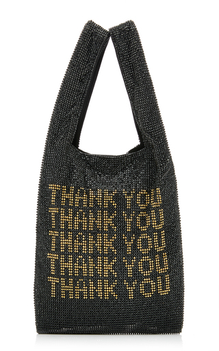 Alexander Wang Wanglock Crystal-Embellished Leather Tote In Black