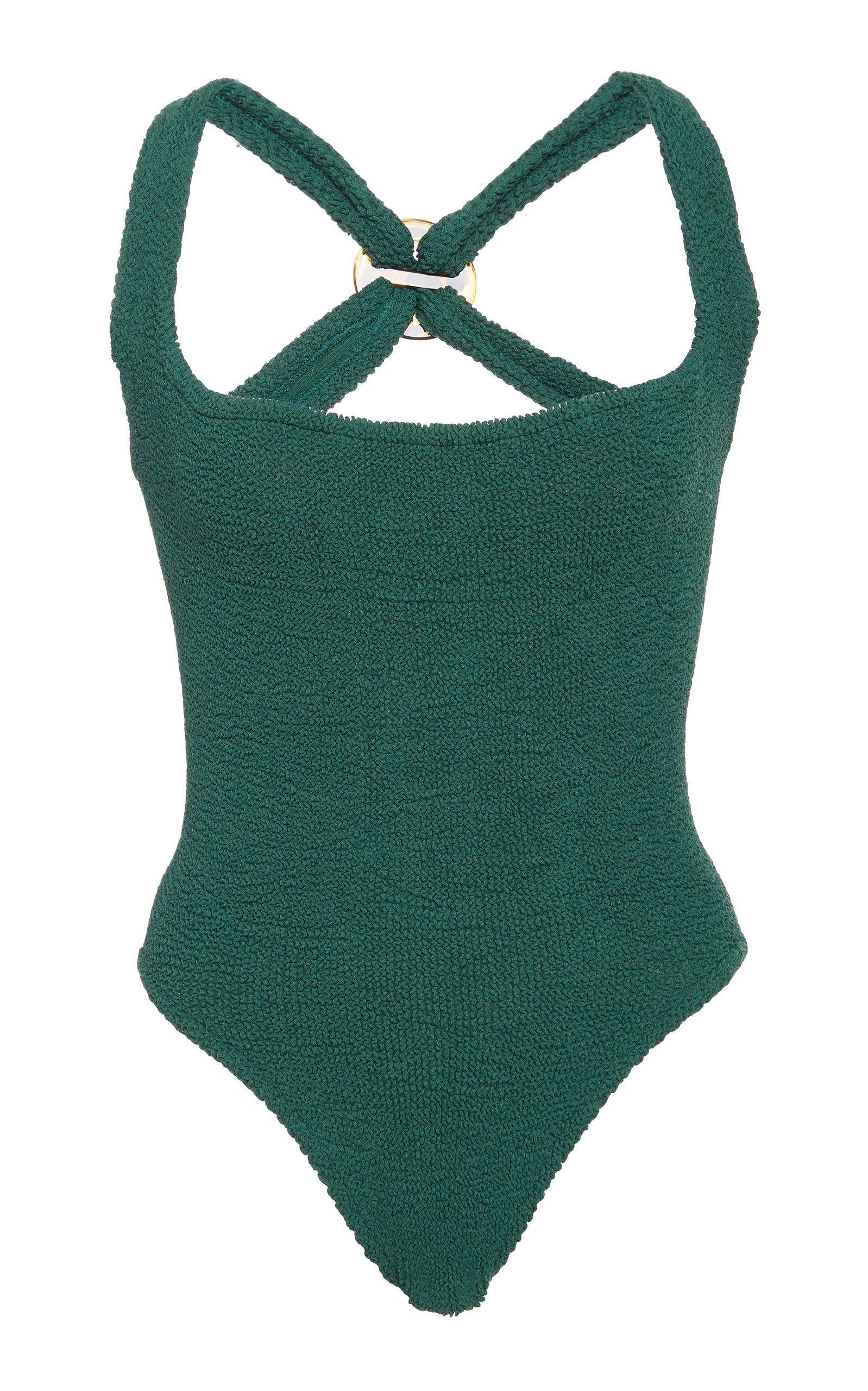 HUNZA G   Hunza G Zora Stretch-Knit Swimsuit   Goxip