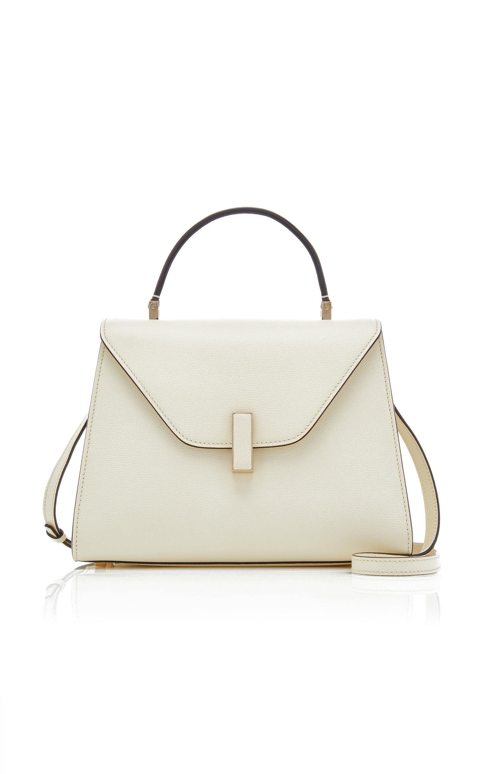VALEXTRA | Valextra Iside Medium Textured-Leather Top Handle Bag | Goxip