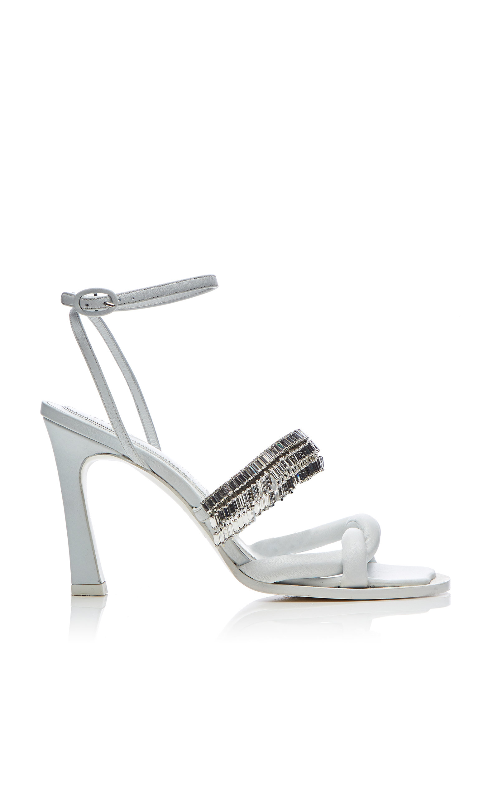efc292f0436 Distill Twisted Jewelry Leather Sandals by Ellery
