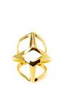 Geometric Gold Plated Edie Ring by EDDIE BORGO Now Available on Moda Operandi