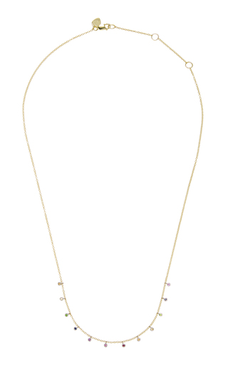 MEIRA T | Meira T Rainbow 14K Gold Multi-Stone Necklace | Goxip