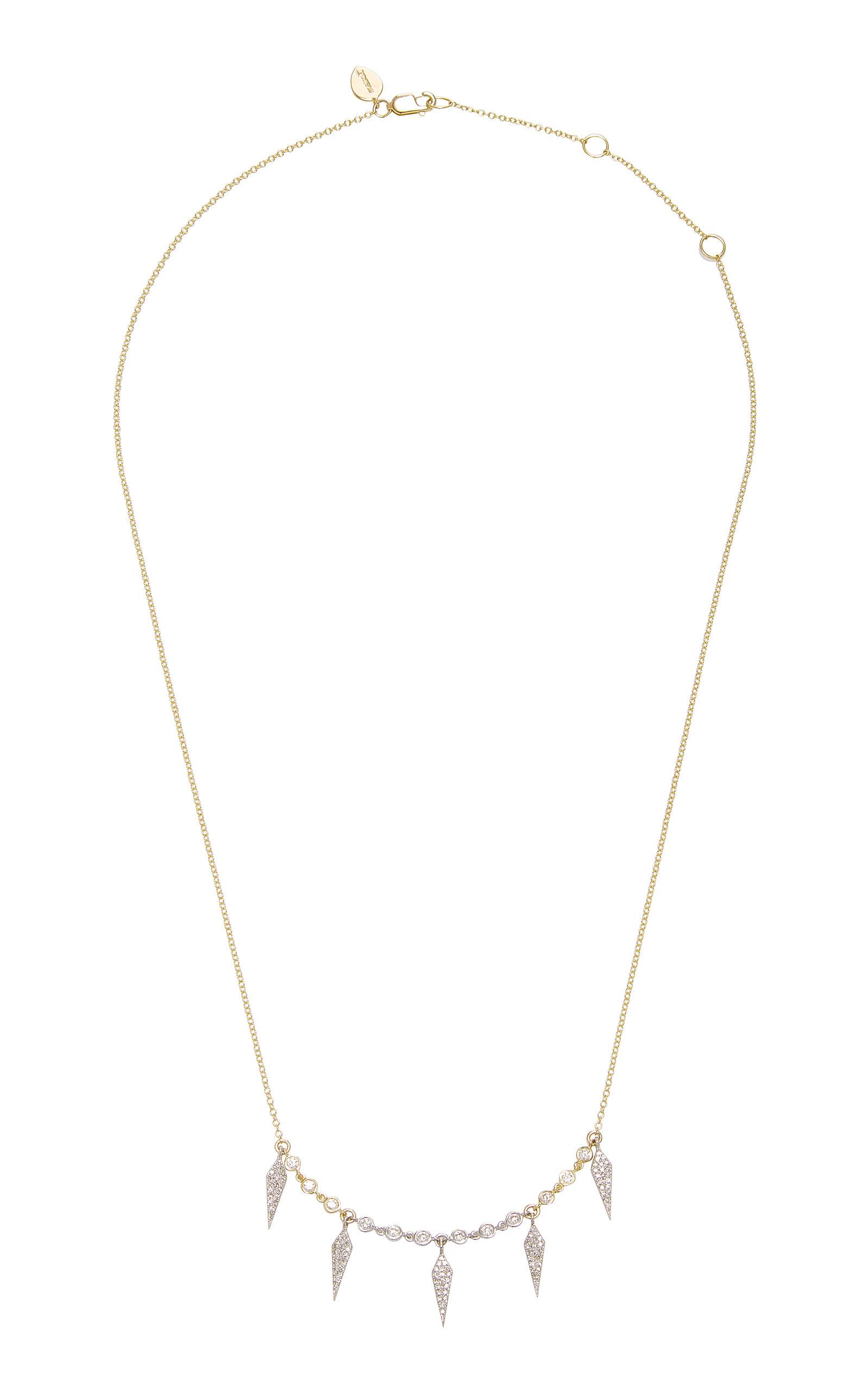 MEIRA T | Meira T 14K Gold Diamond Necklace | Goxip