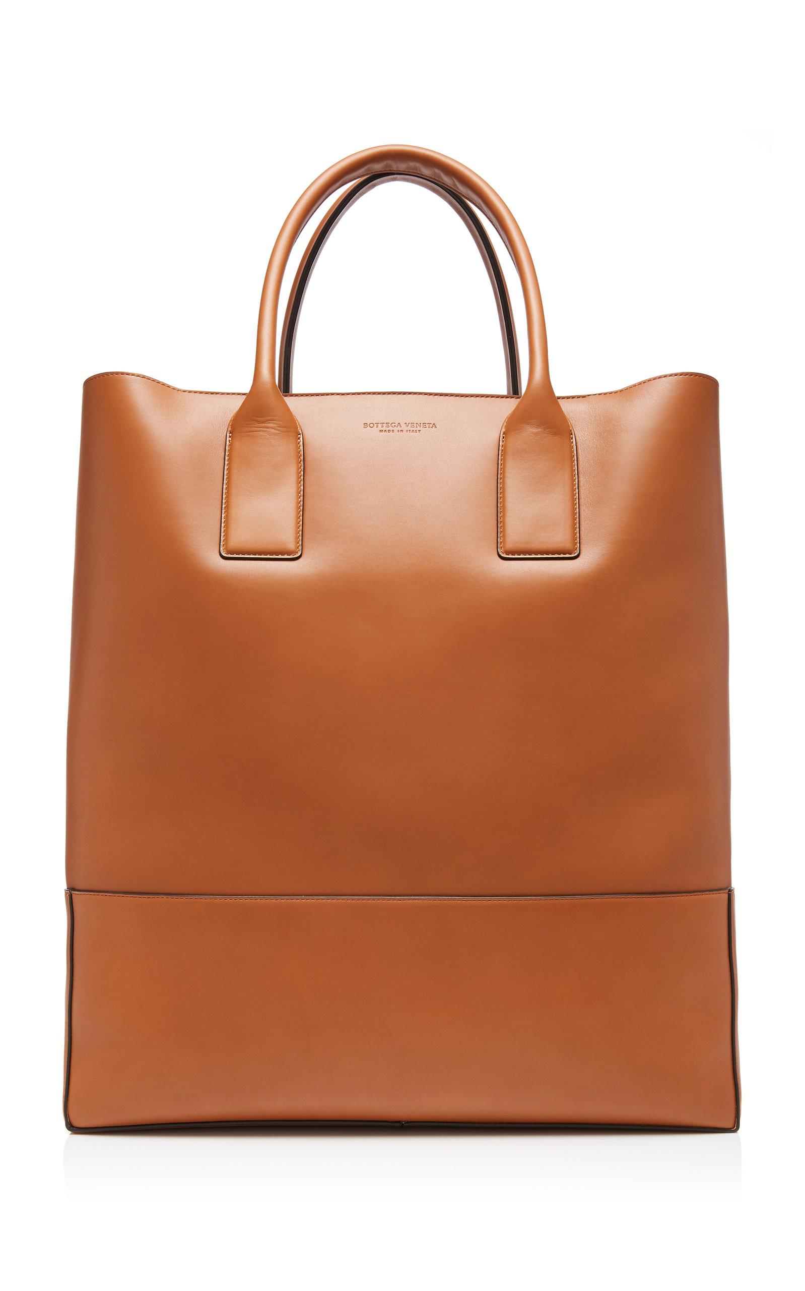 Bottega Veneta Leather Tote Bag In Brown