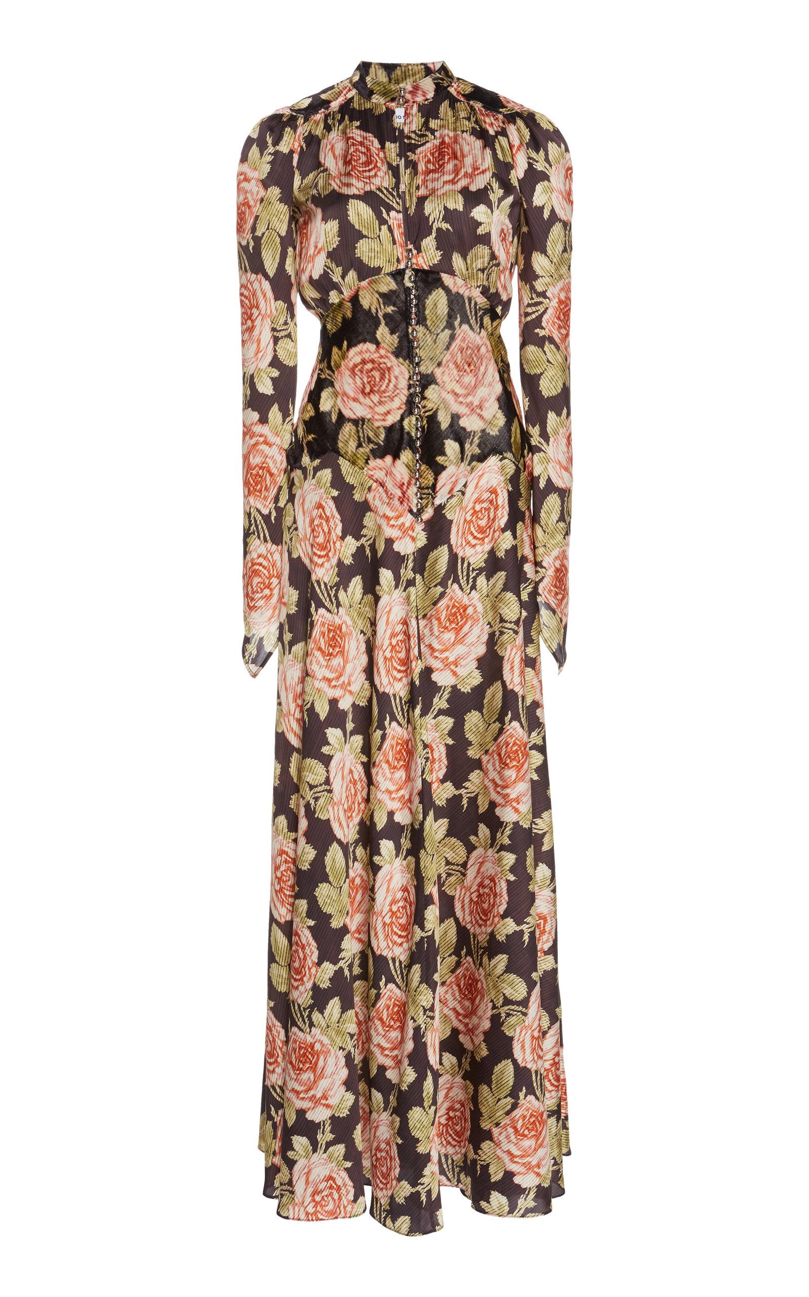 floral-print-gauze-maxi-dress by paco-rabanne