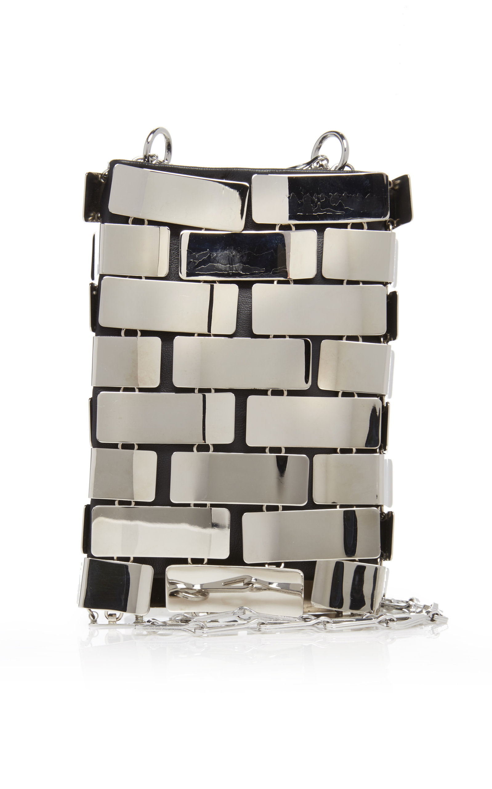 Chrome Mini 1969 Brass Bag by Paco Rabanne