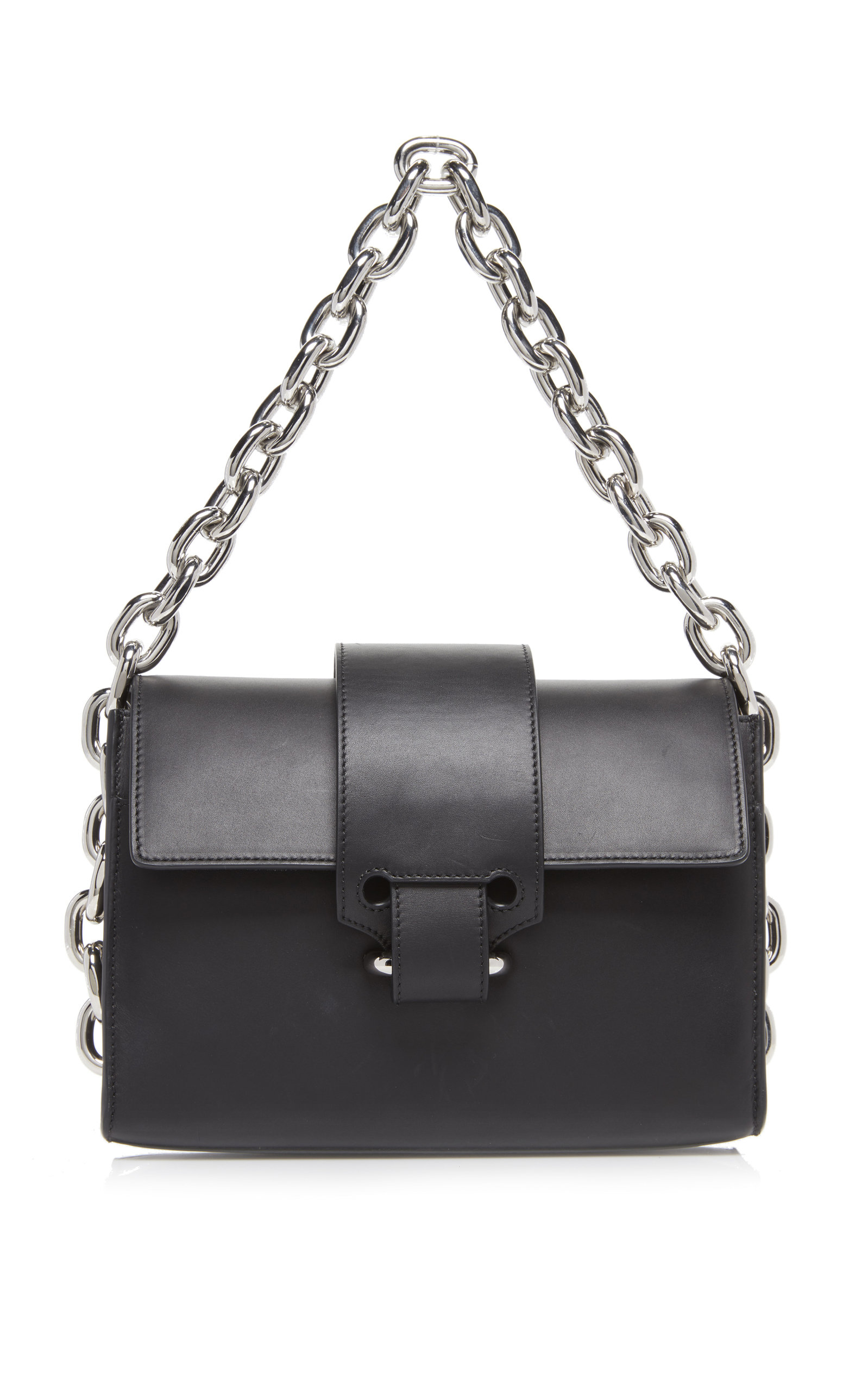 0b9de3eff9a5 Chainlink Leather Shoulder Bag by Paco Rabanne