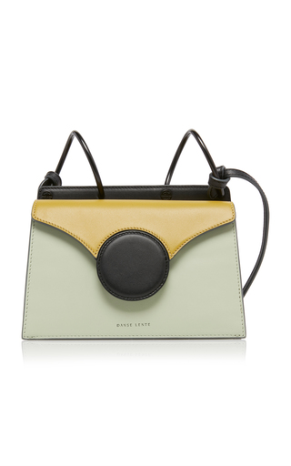 Danse Lente 'Phoebe' Spiral Handle Mini Leather Crossbody Bag In Mint,Olive