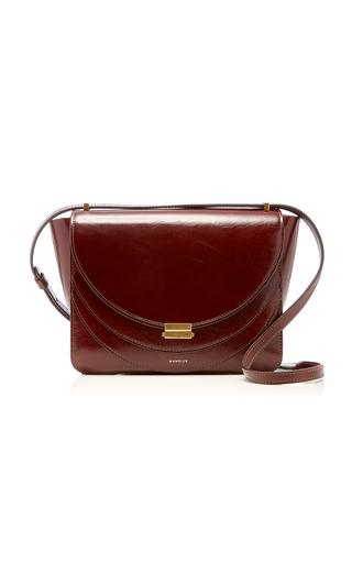 Wandler Luna Leather Shoulder Bag In Brown