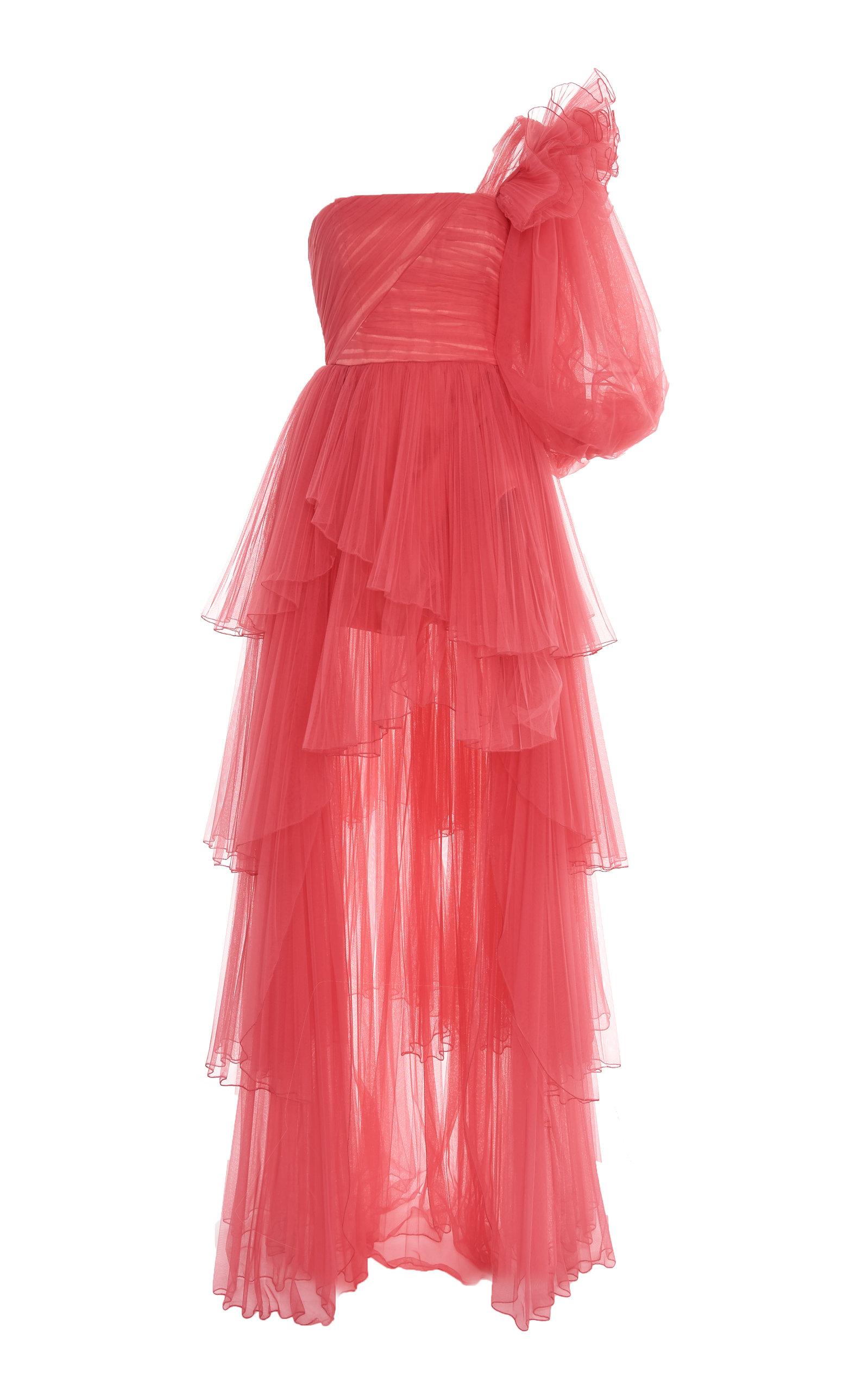 6e970c94567 Asymmetric One-Shoulder Tulle Gown by Alberta Ferretti | Moda Operandi
