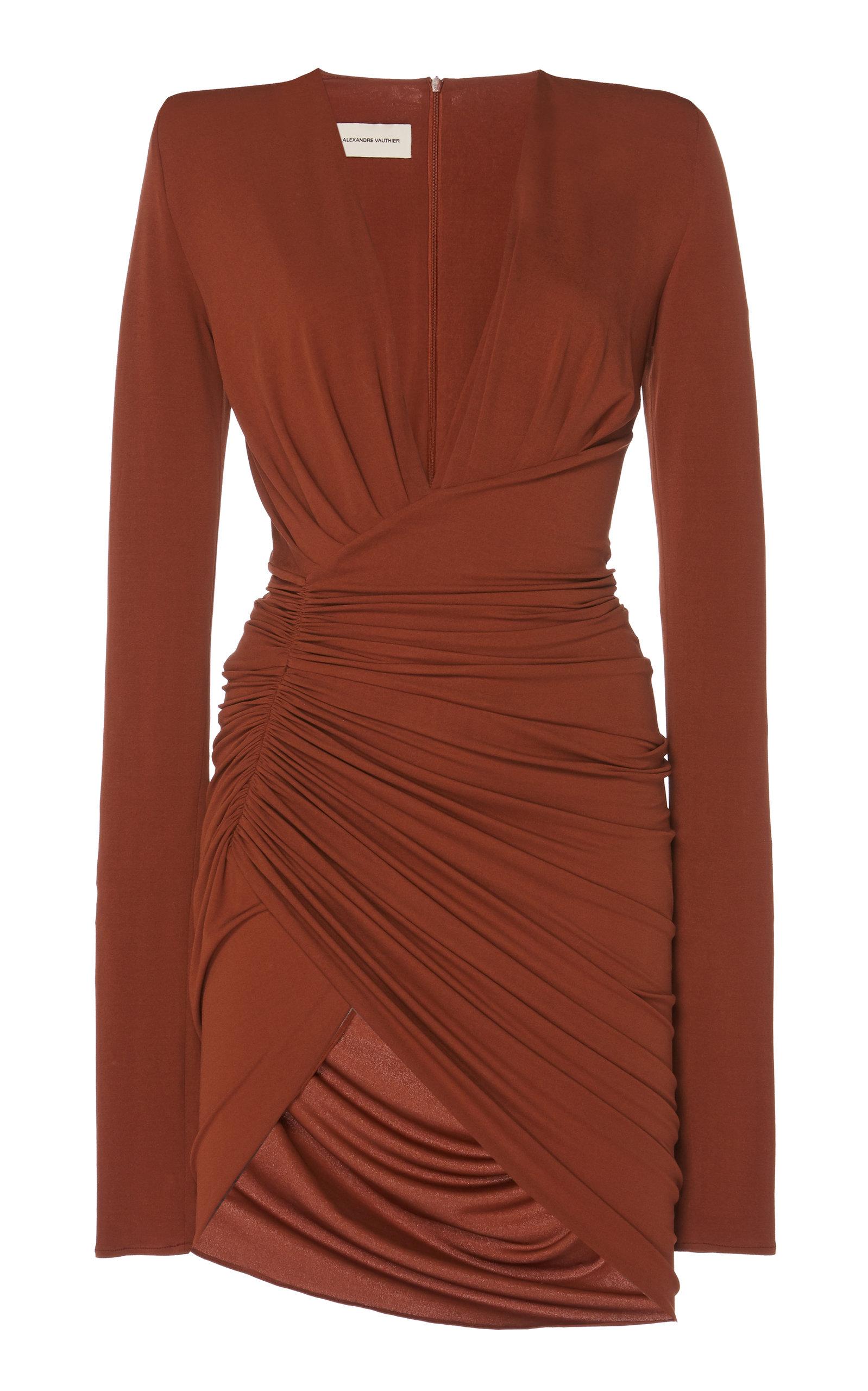 1b6c78b1 Ruched Satin Mini Dress by Alexandre Vauthier | Moda Operandi