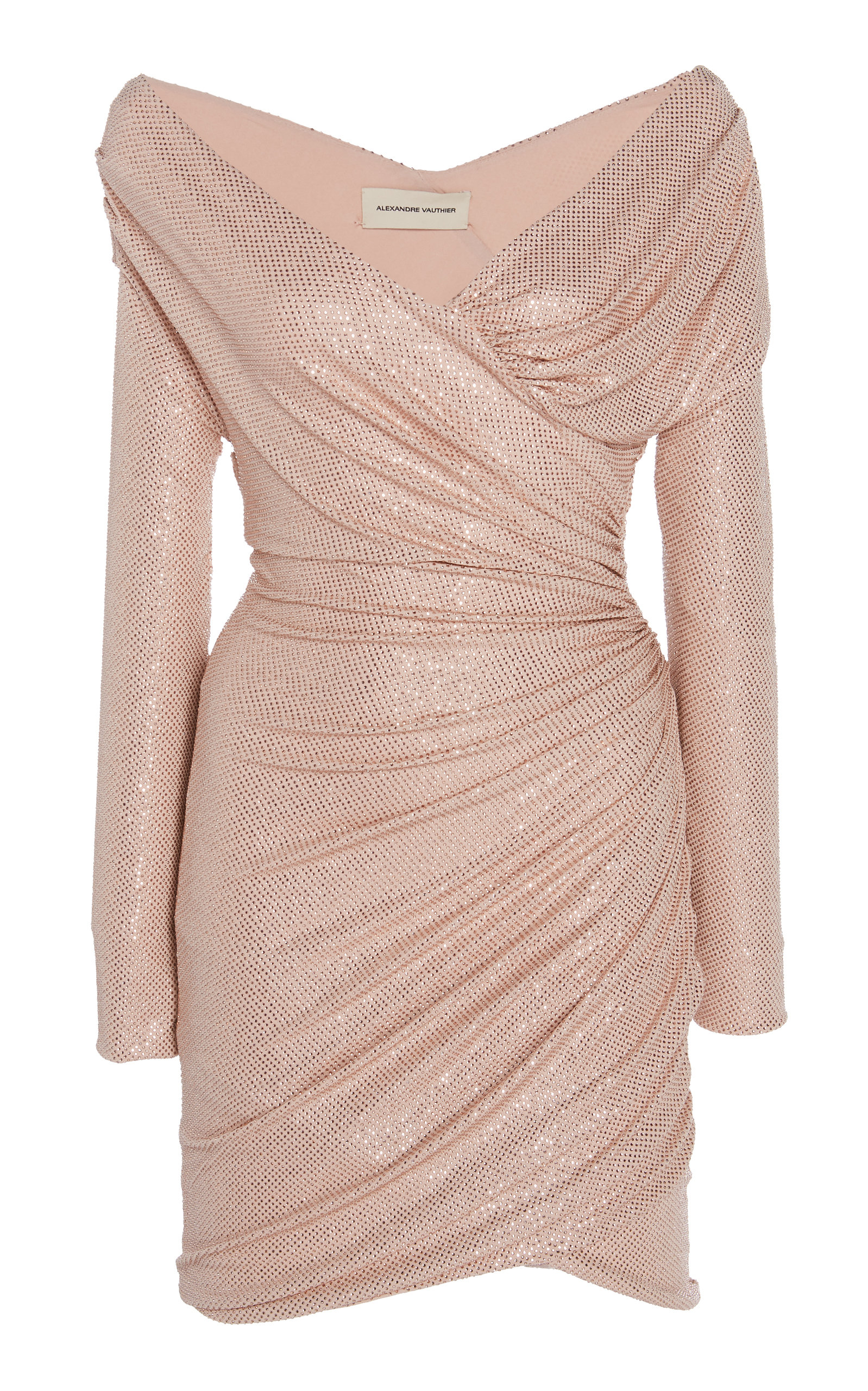 9f7a8aa9 Off-Shoulder Crystal-Embellished Mini Dress by Alexandre Vauthier ...