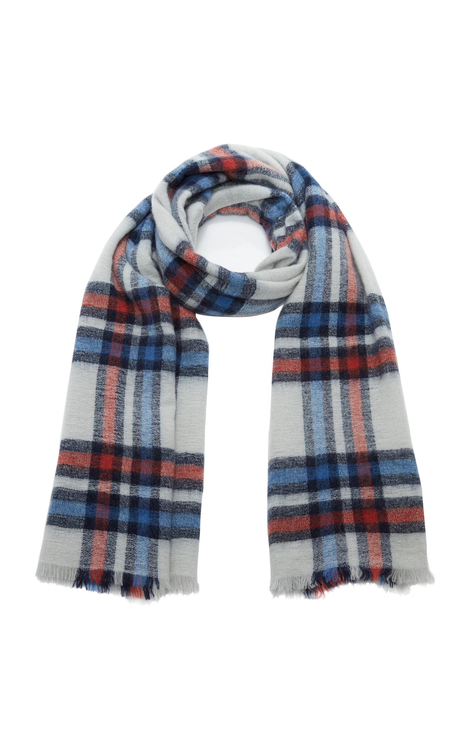 ISABEL MARANT | Isabel Marant Simona Plaid Wool And Cashmere-Blend Scarf | Goxip