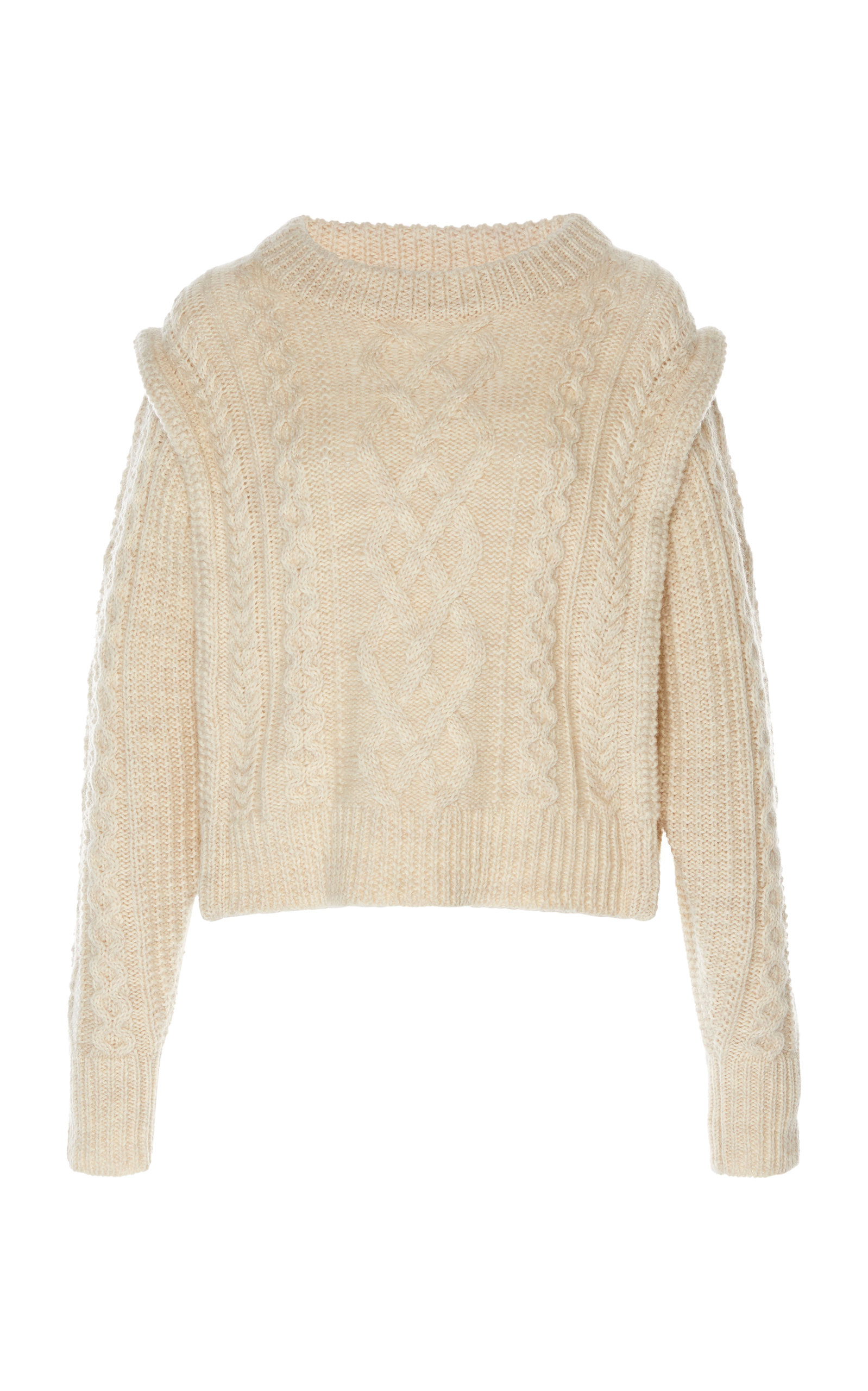 ISABEL MARANT ÉTOILE   Isabel Marant Étoile Tayle Cable-Knit Wool Sweater   Goxip