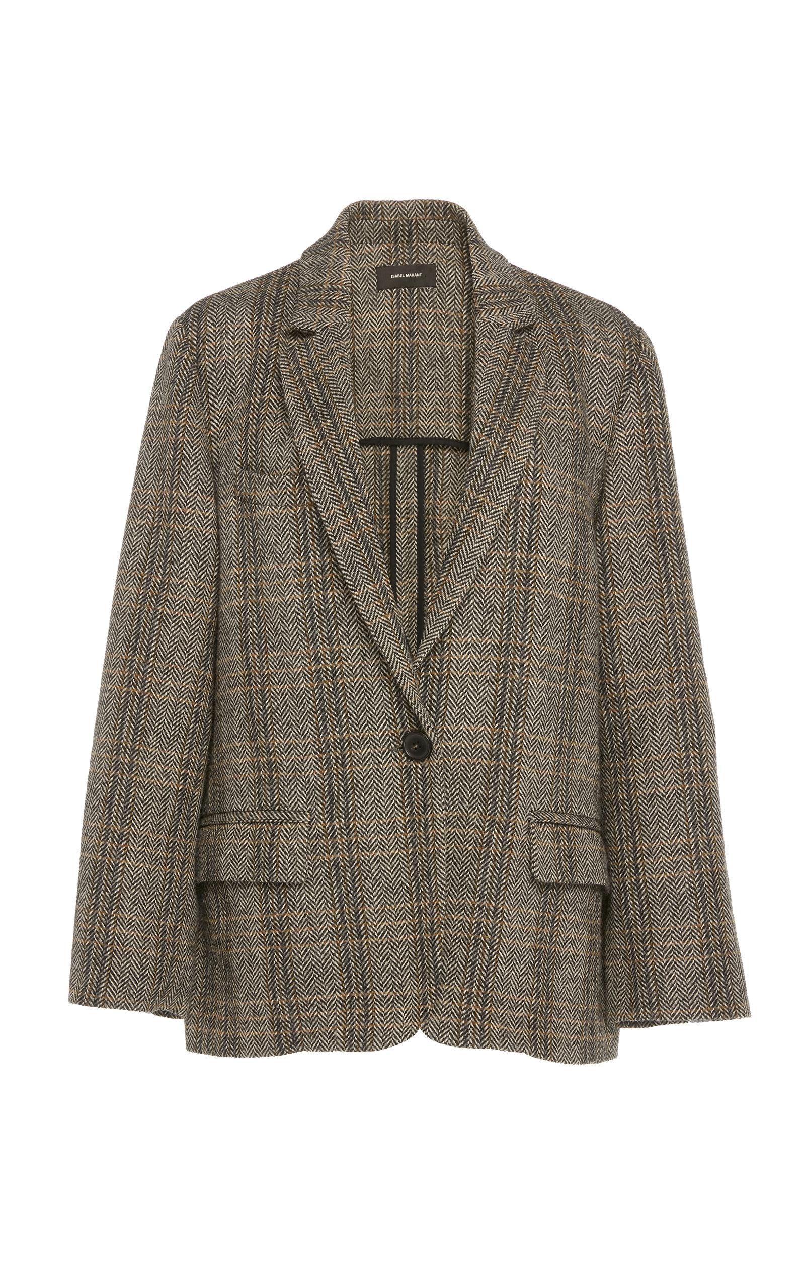 Charly Checked Wool Blazer