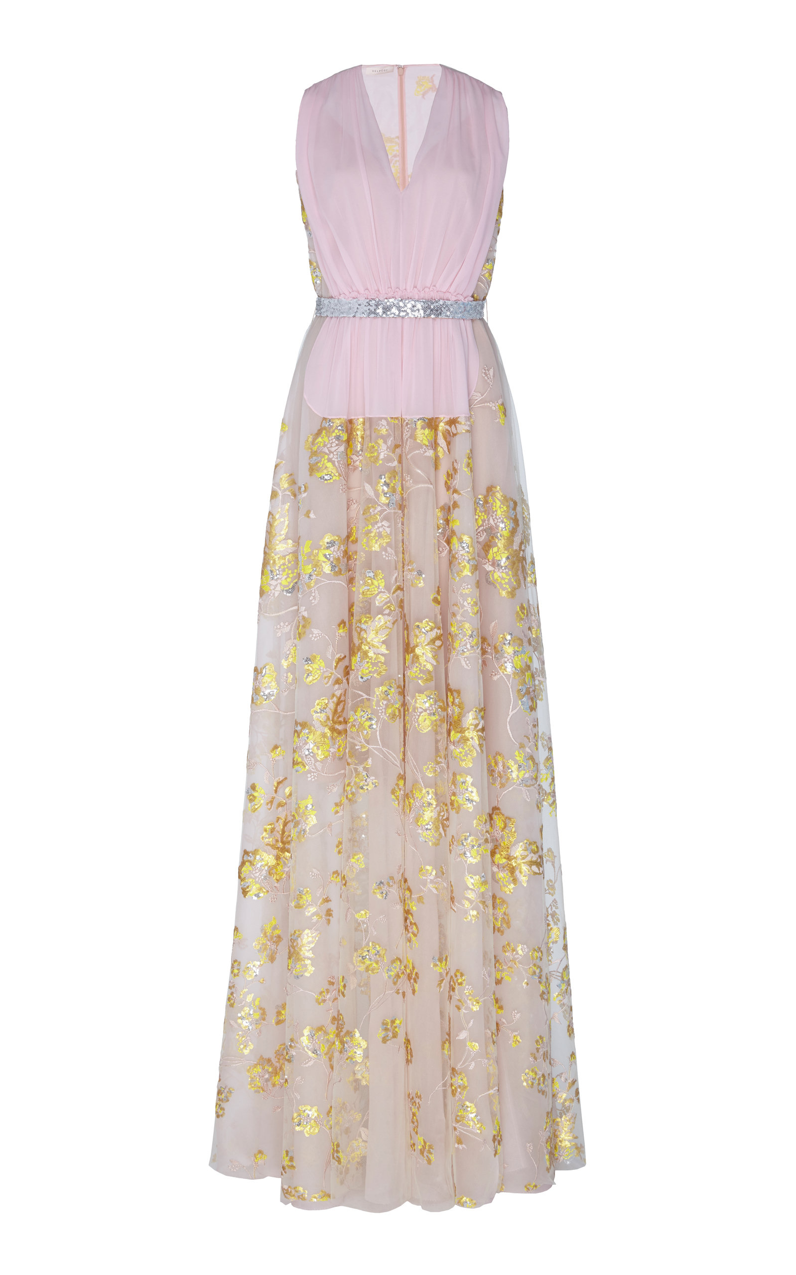 77ceb8d45d6b Floral-Embroidered Tulle Gown by DELPOZO