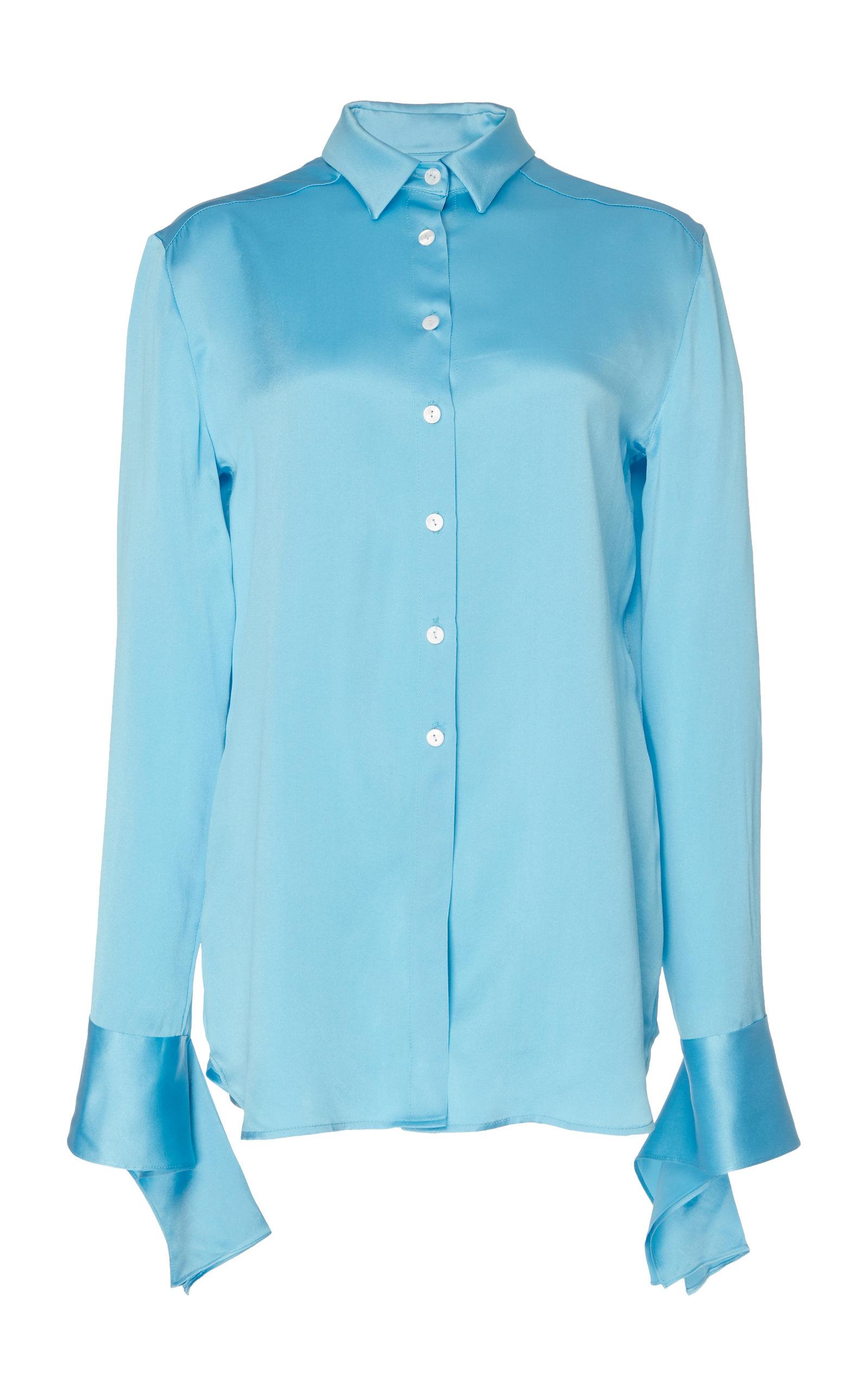 Christopher Esber Silk-Satin Shirt