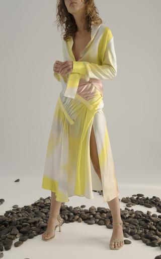 La Cumbia Asymmetric Floral Cotton-Poplin Maxi Skirt by Johanna