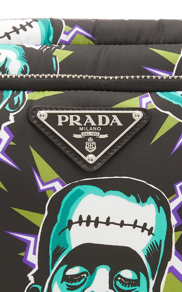 Prada Travel Frankenstein Print Large Pouch