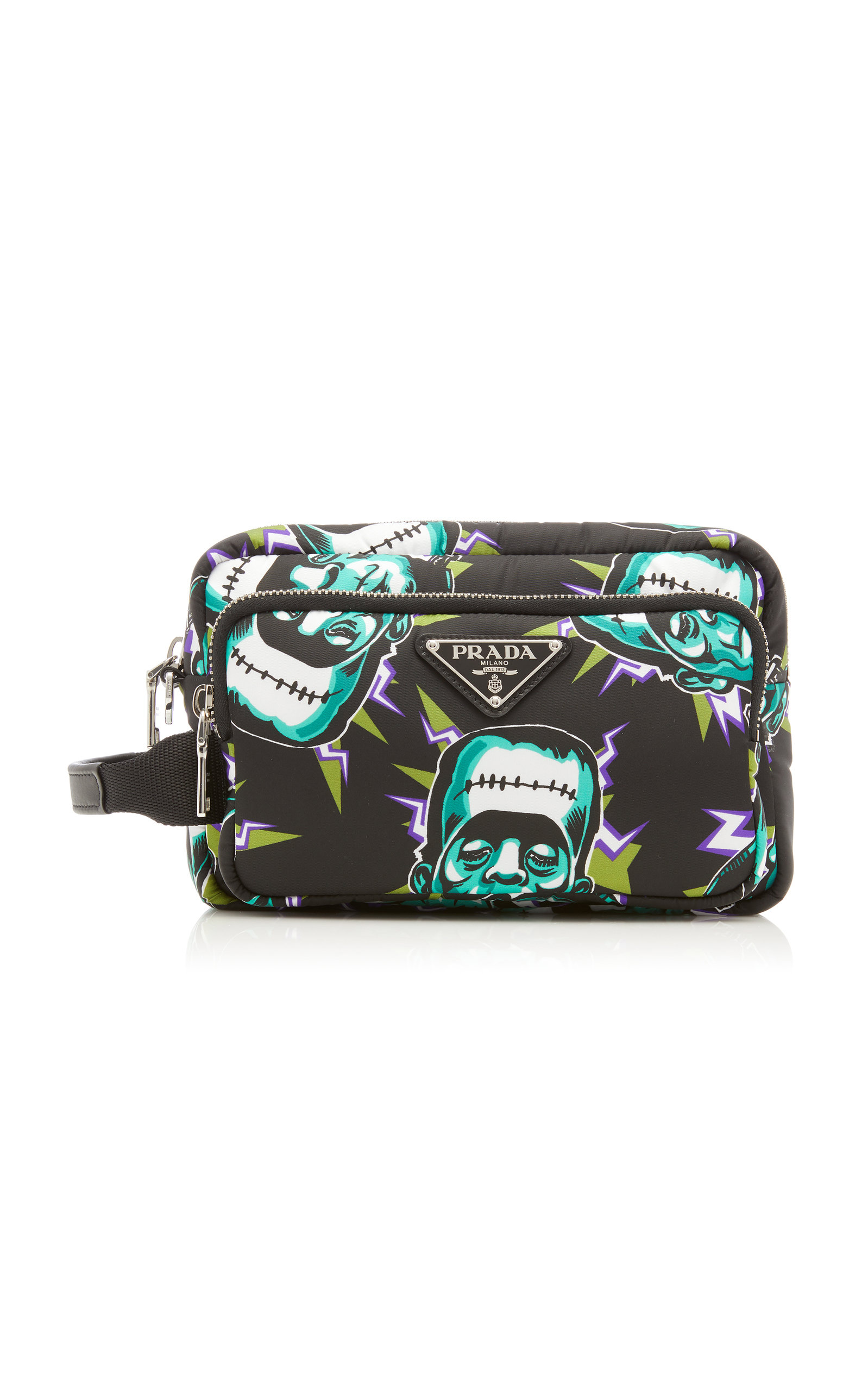 Prada Travel Frankenstein Print Large Pouch