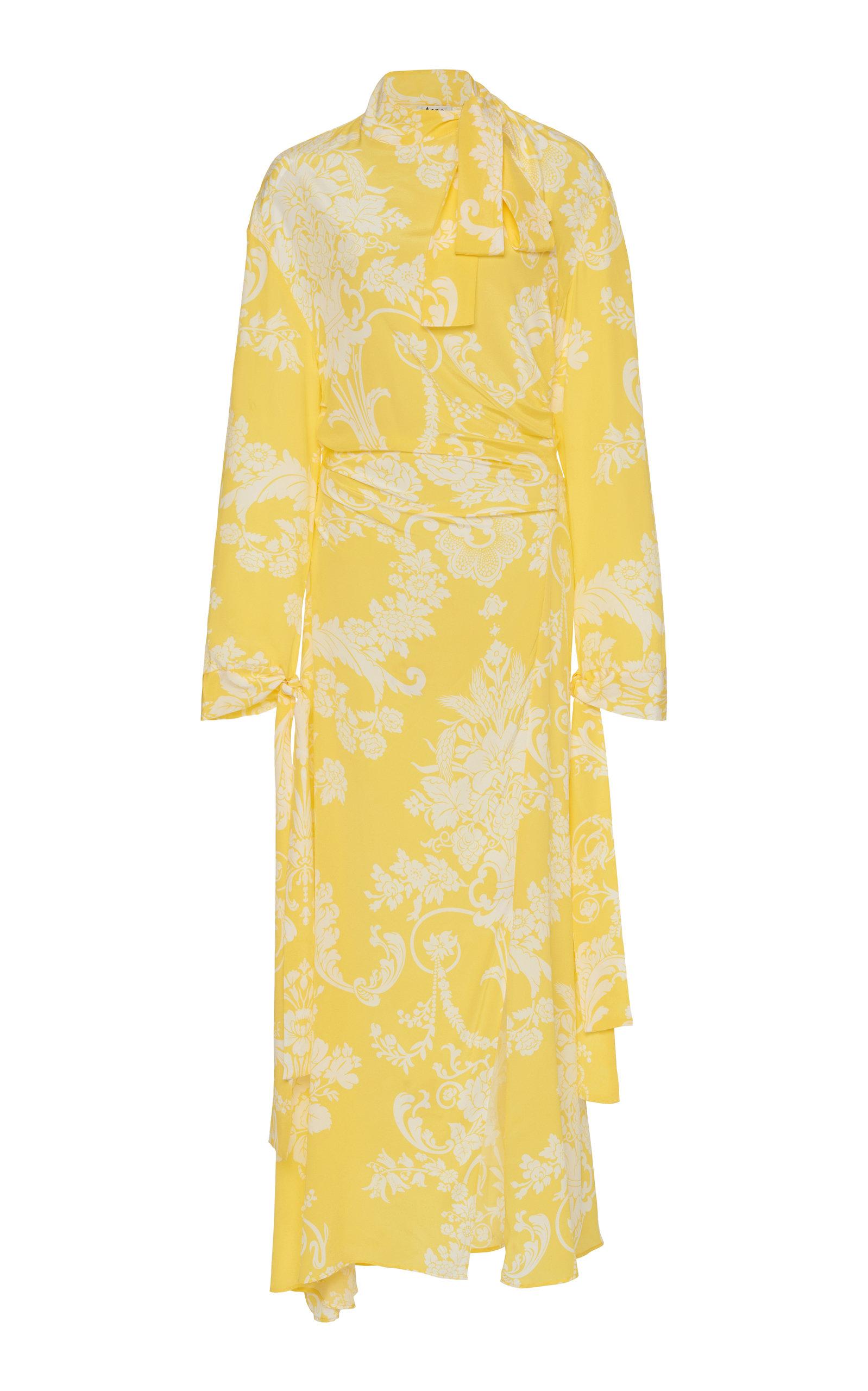 Acne Studios Dress Danouck Tie-Detailed Silk Midi Dress