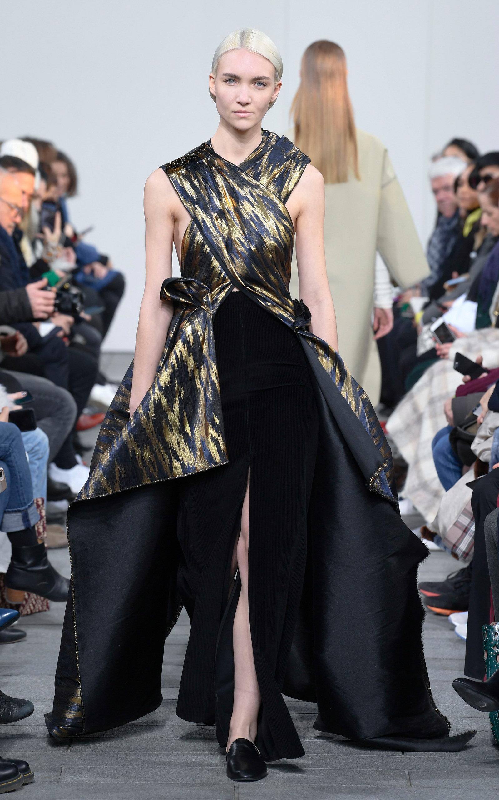 399bf4f9a Metallic Cross Top Dress by Maison Rabih Kayrouz | Moda Operandi