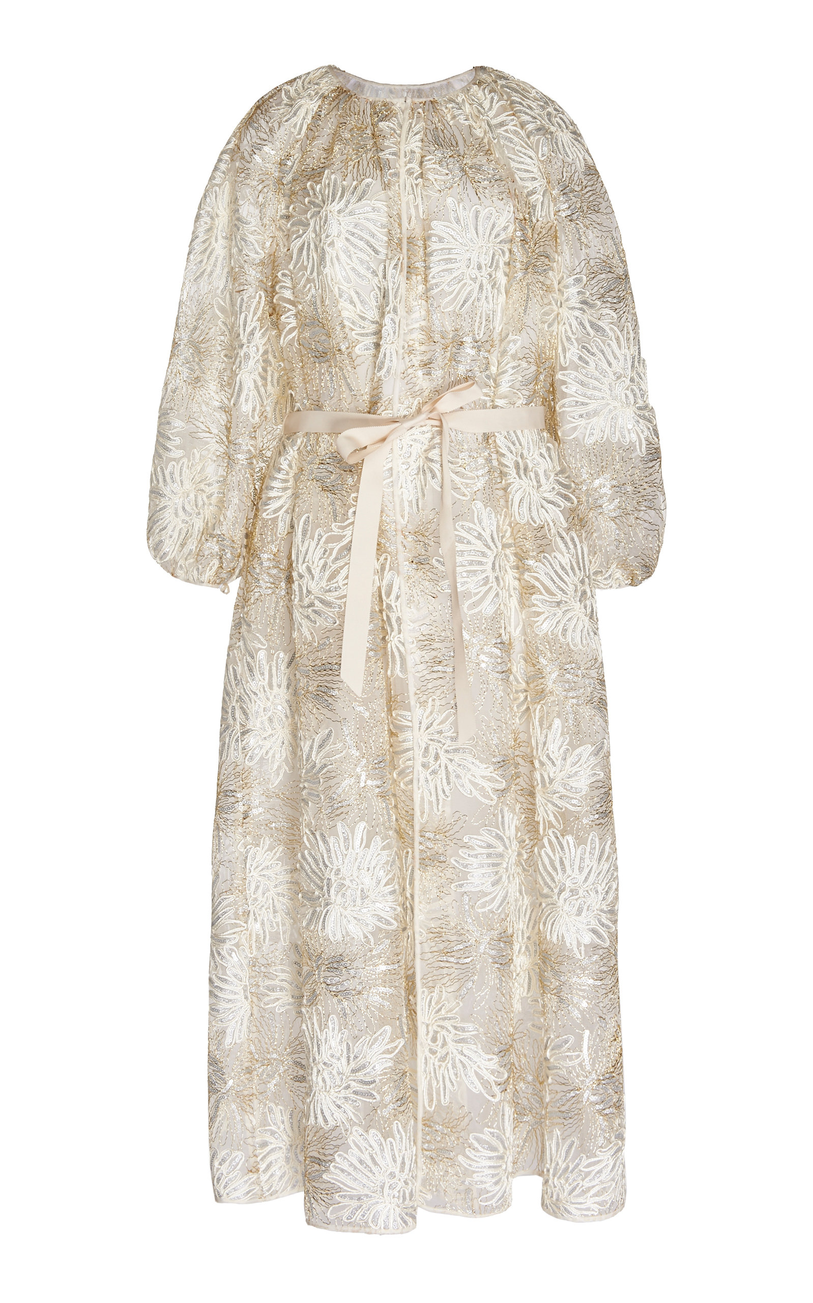 Luna Long Sleeve Embroidered Lace Maxi Dress