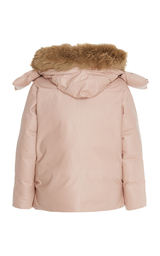45b7a3da750 Fox Hood Leather Parka