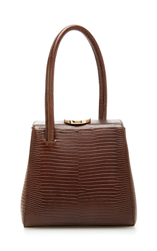LITTLE LIFFNER | Little Liffner Mademoiselle Lizard-Embossed Leather Bag | Goxip