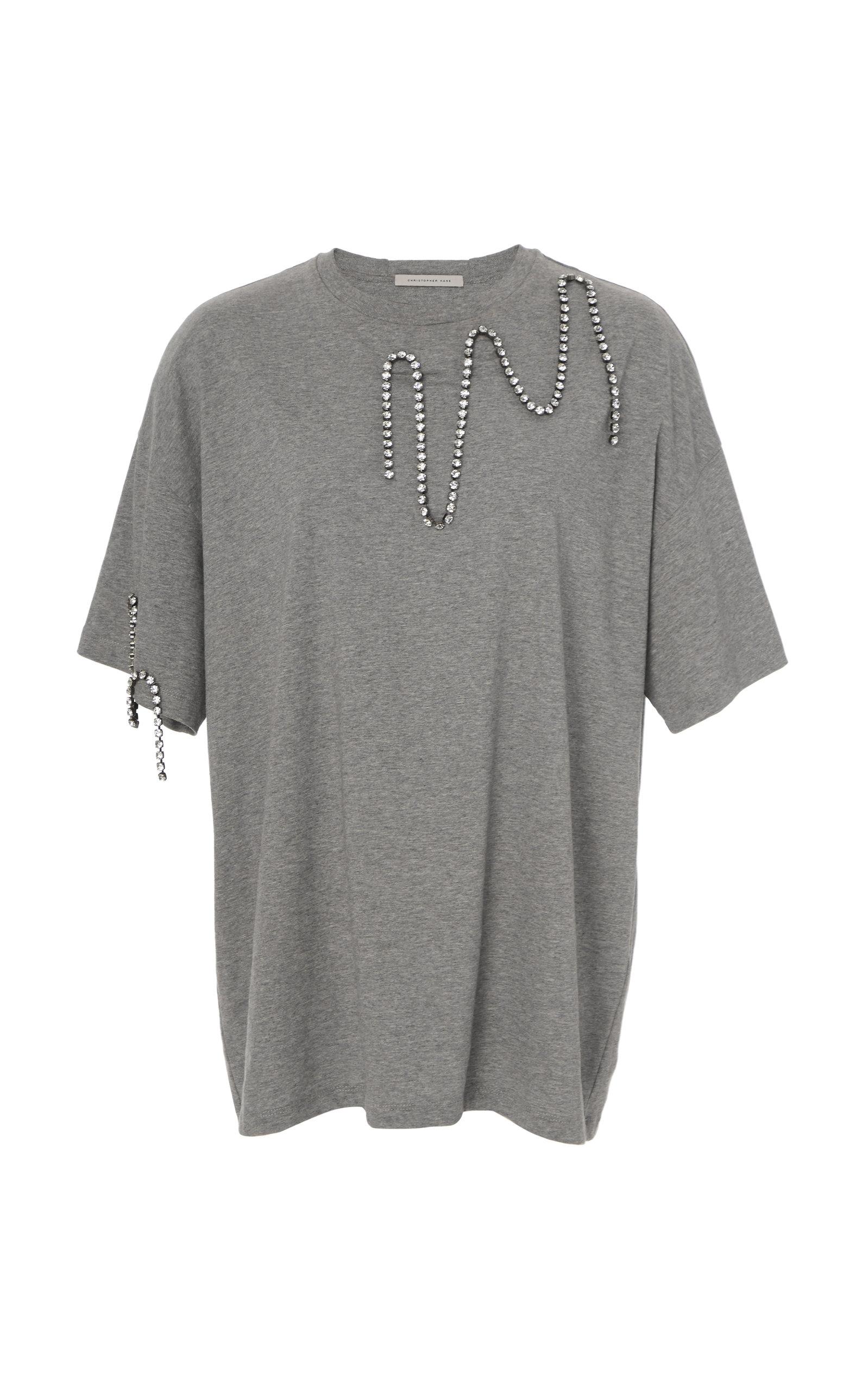 7e07bd92 Chain-Embellished Jersey T-Shirt by Christopher Kane   Moda Operandi