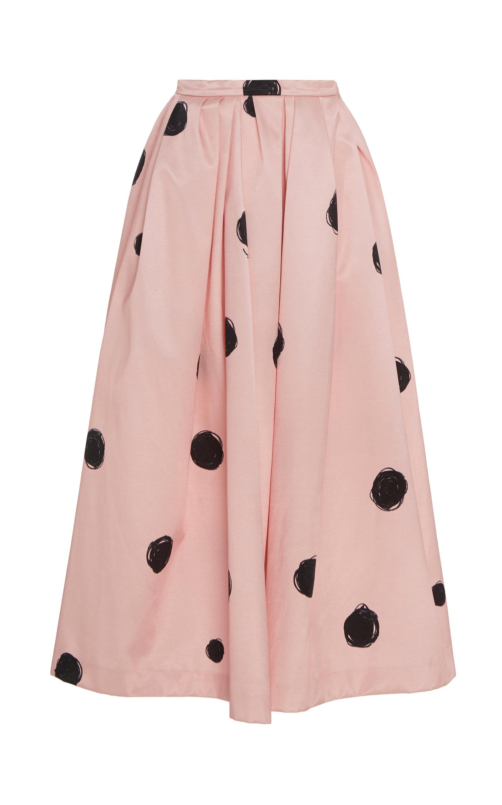 polka-dot-satin-midi-skirt by christopher-kane