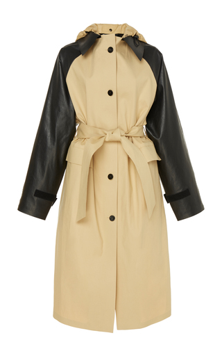 aa4b2500cd76d preorder. Kassl. Two-Tone Cotton Trench Coat