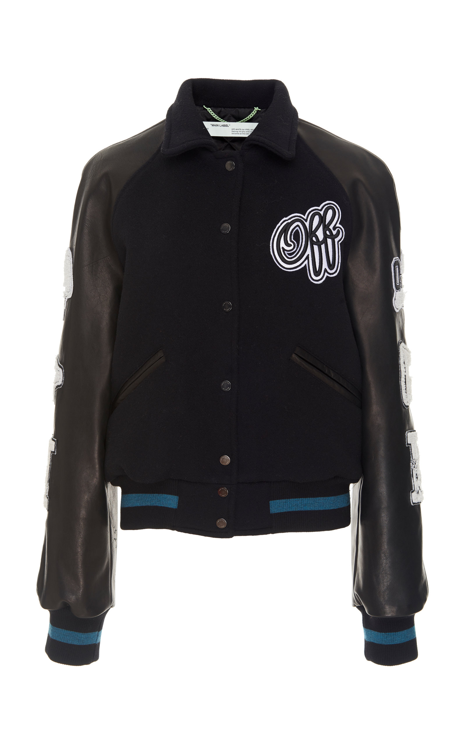 df09ab1d9e12 Vintage Wool-Blend Varsity Jacket by Off-White c o Virgil Abloh ...