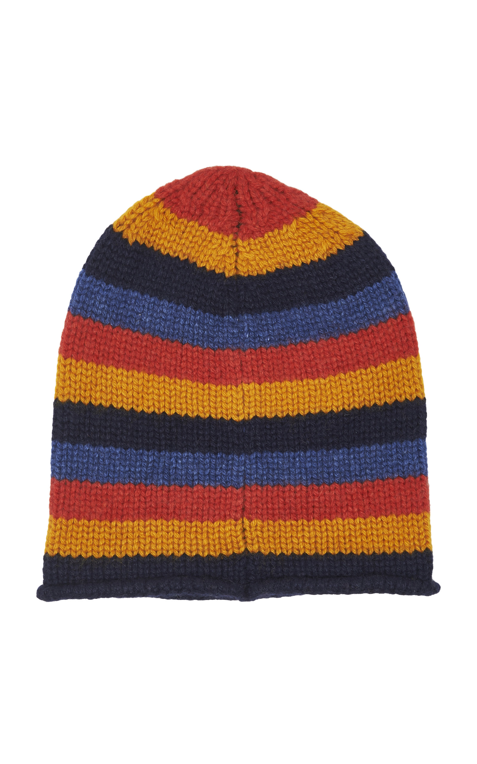 The Elder Statesman Hats Lil' Lookout Striped Cashmere Beanie