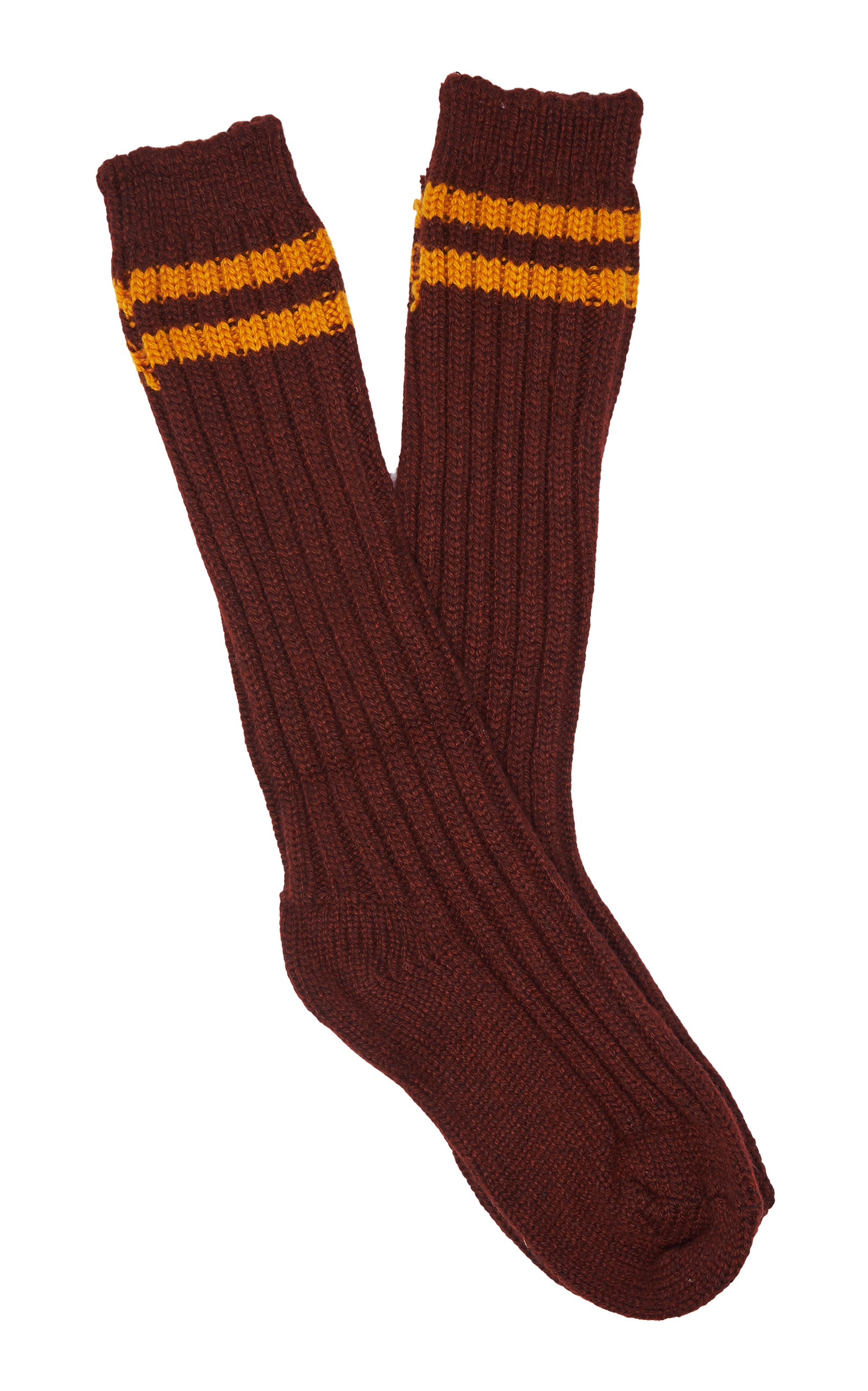 THE ELDER STATESMAN | The Elder Statesman Yosemite Striped Cashmere Socks | Goxip
