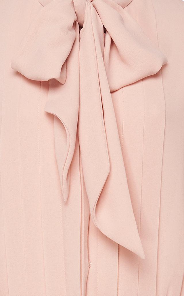 3d1c7145dca46 Luisa BeccariaPussy-bow Pleated Chiffon Midi Dress. CLOSE. Loading.  Loading. Loading