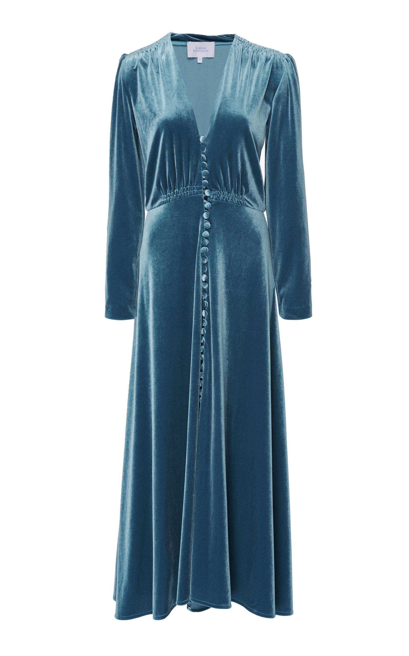 LUISA BECCARIA | Luisa Beccaria Velvet Midi Dress | Goxip